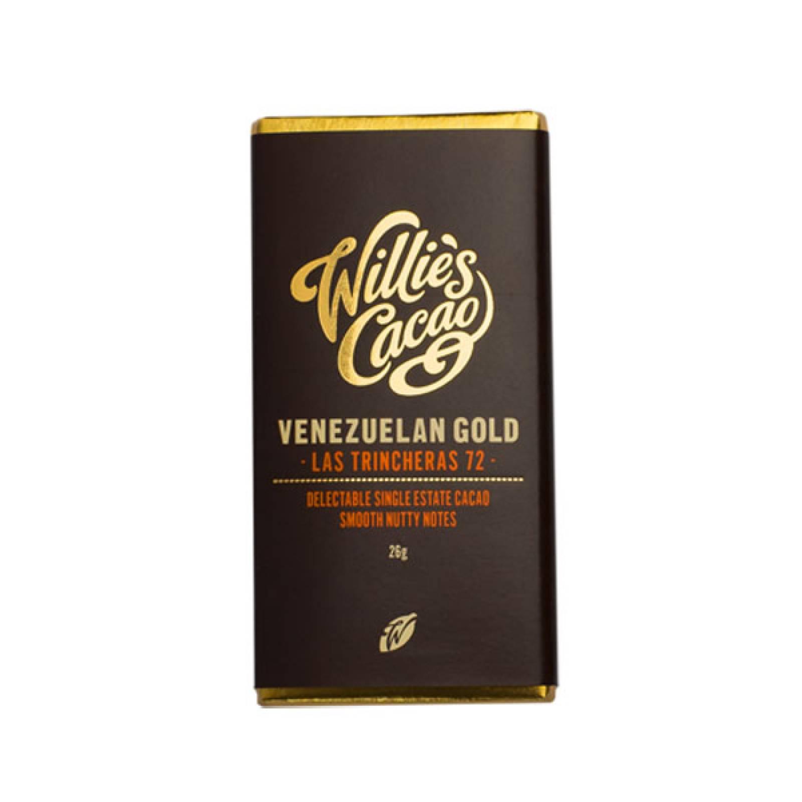 Las Trincheras Gold Dark Chocolate Bar 26g Willie's Cacao