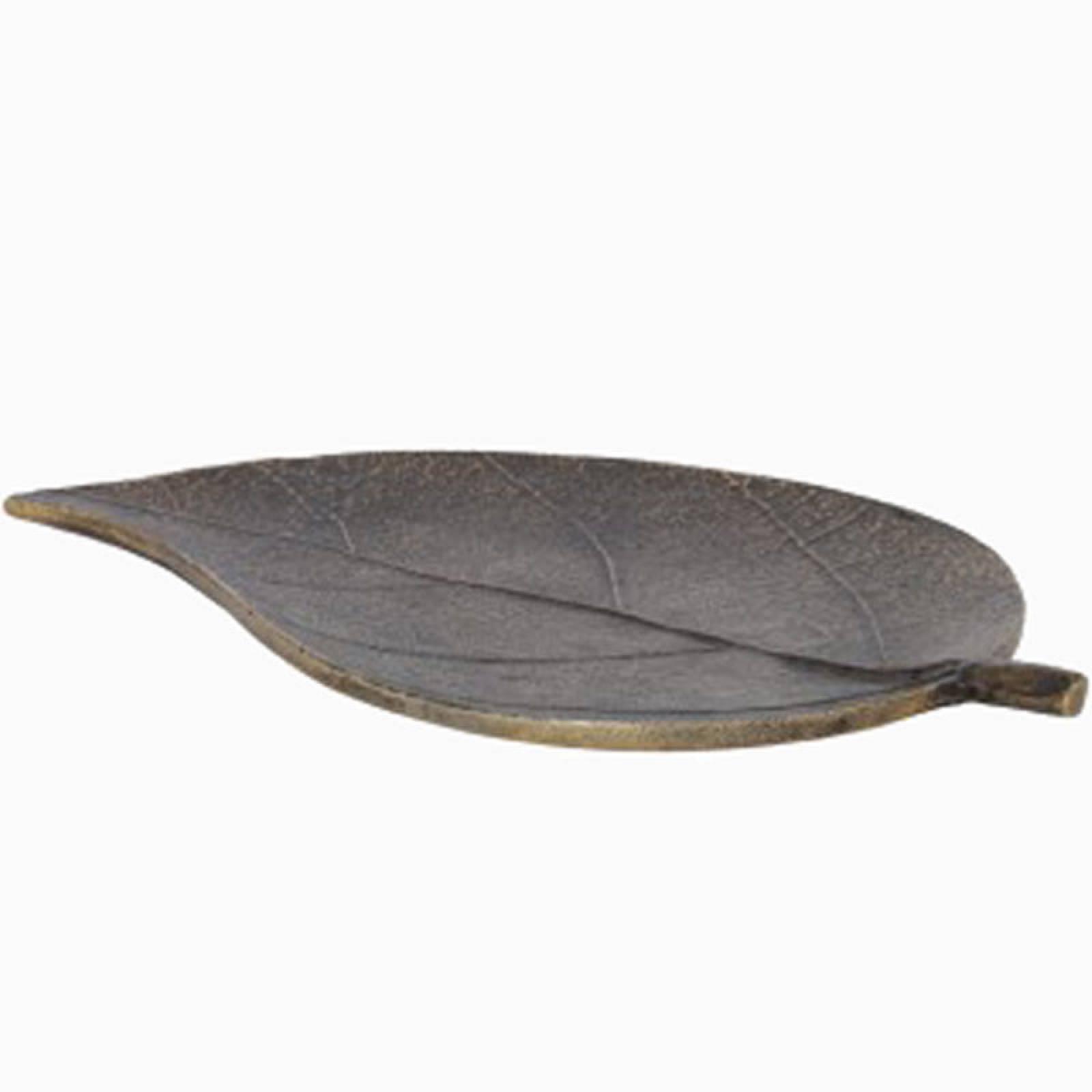 Leaf Dish Bronze Metal