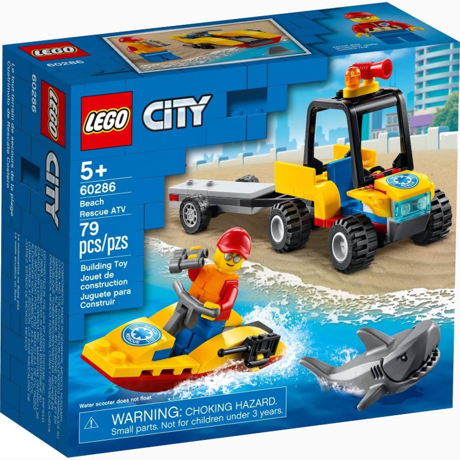 LEGO City Beach Rescue ATV 60286 5+