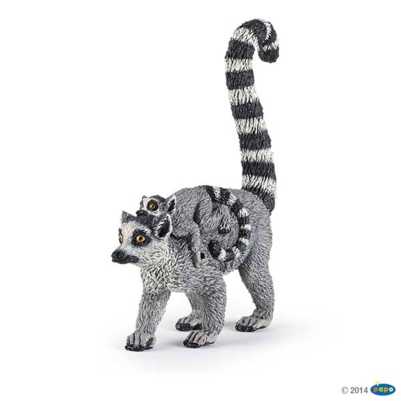 Lemur And Baby PAPO WILD ANIMAL