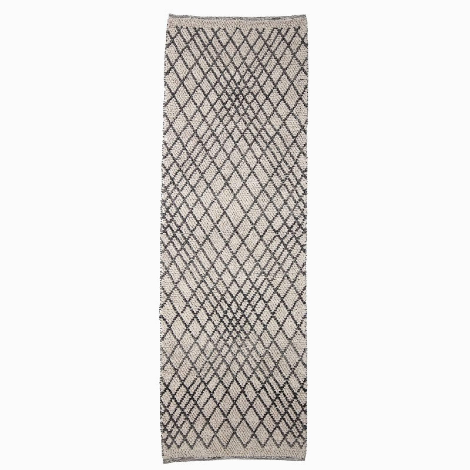 Linear Patterned Grey Runner Rug 250x80cm thumbnails
