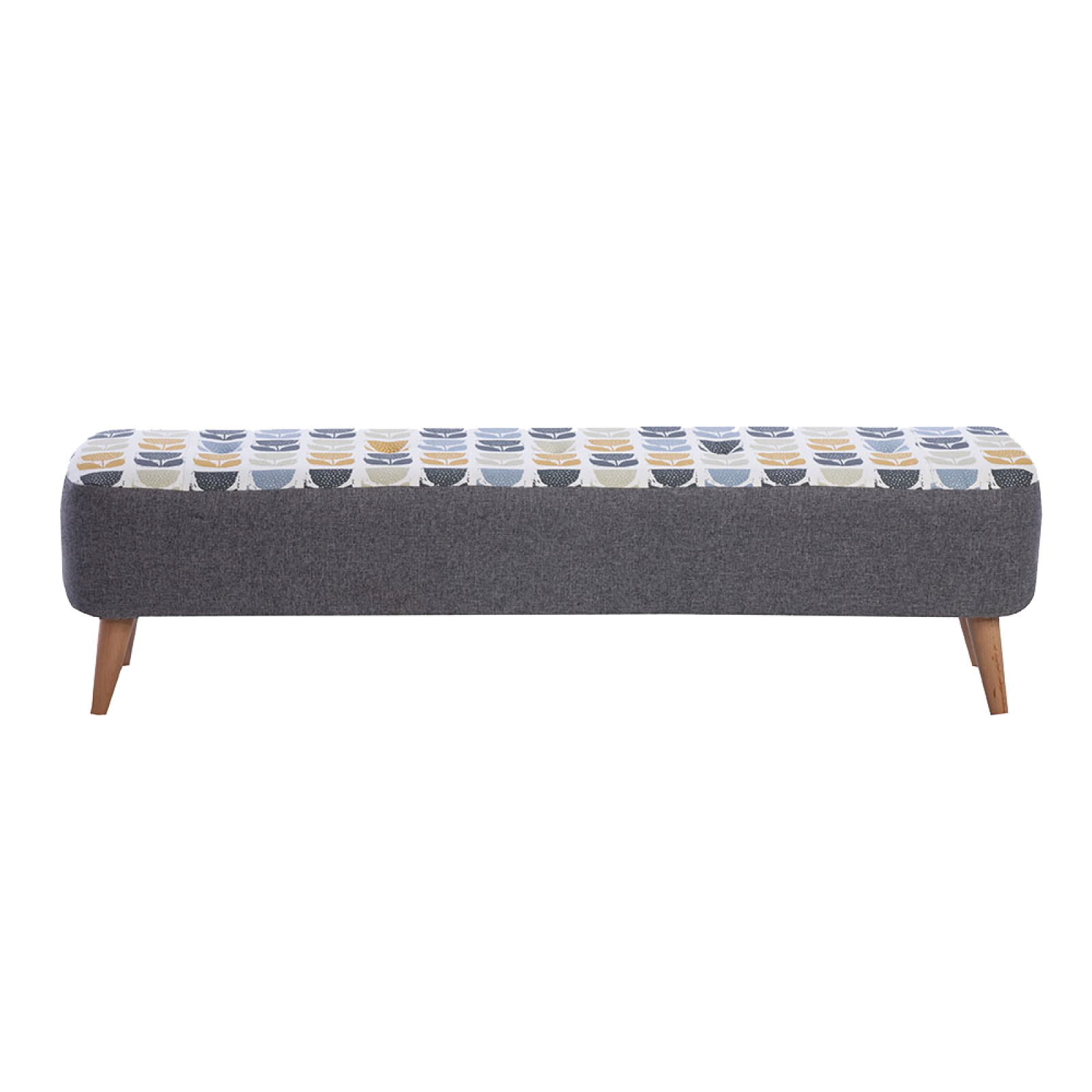 Lisbon Designer Large Bench Stool By Whitemeadow -Fabric GradeB