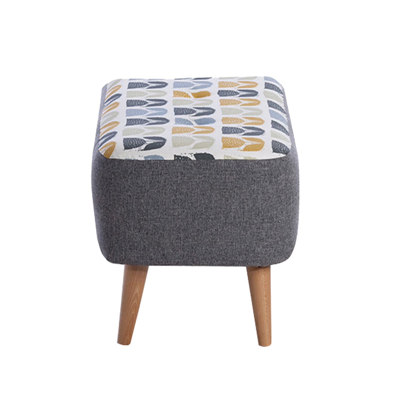 Lisbon Designer Small Bench Stool By Whitemeadow- Fabric Grade B thumbnails