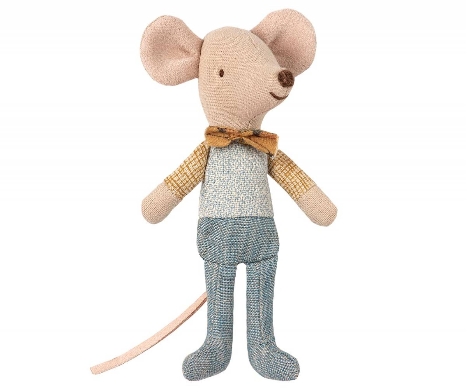 Little Brother Bow Tie Mouse In Matchbox By Maileg