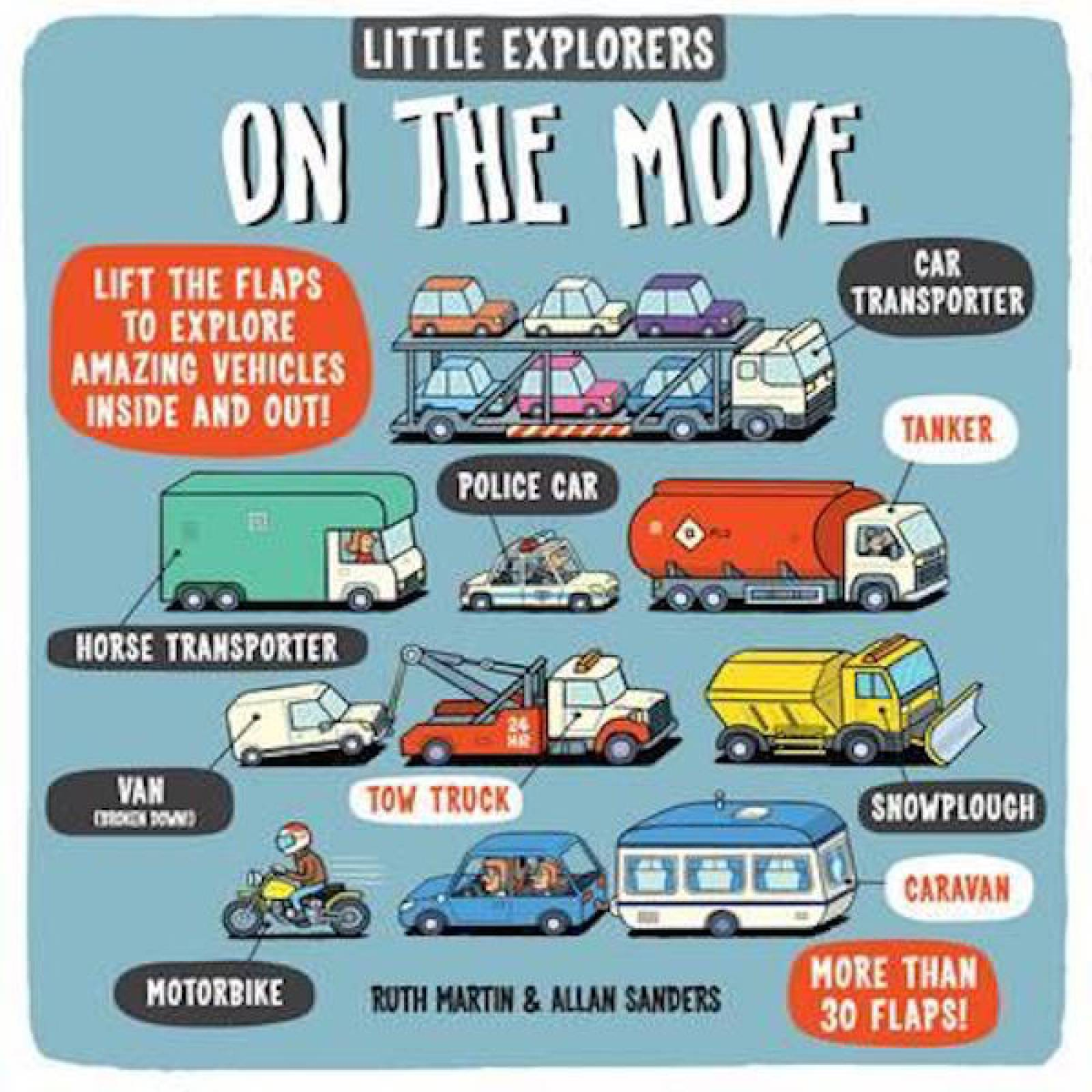 Little Explorers On The Move Lift The Flap Hardback Book