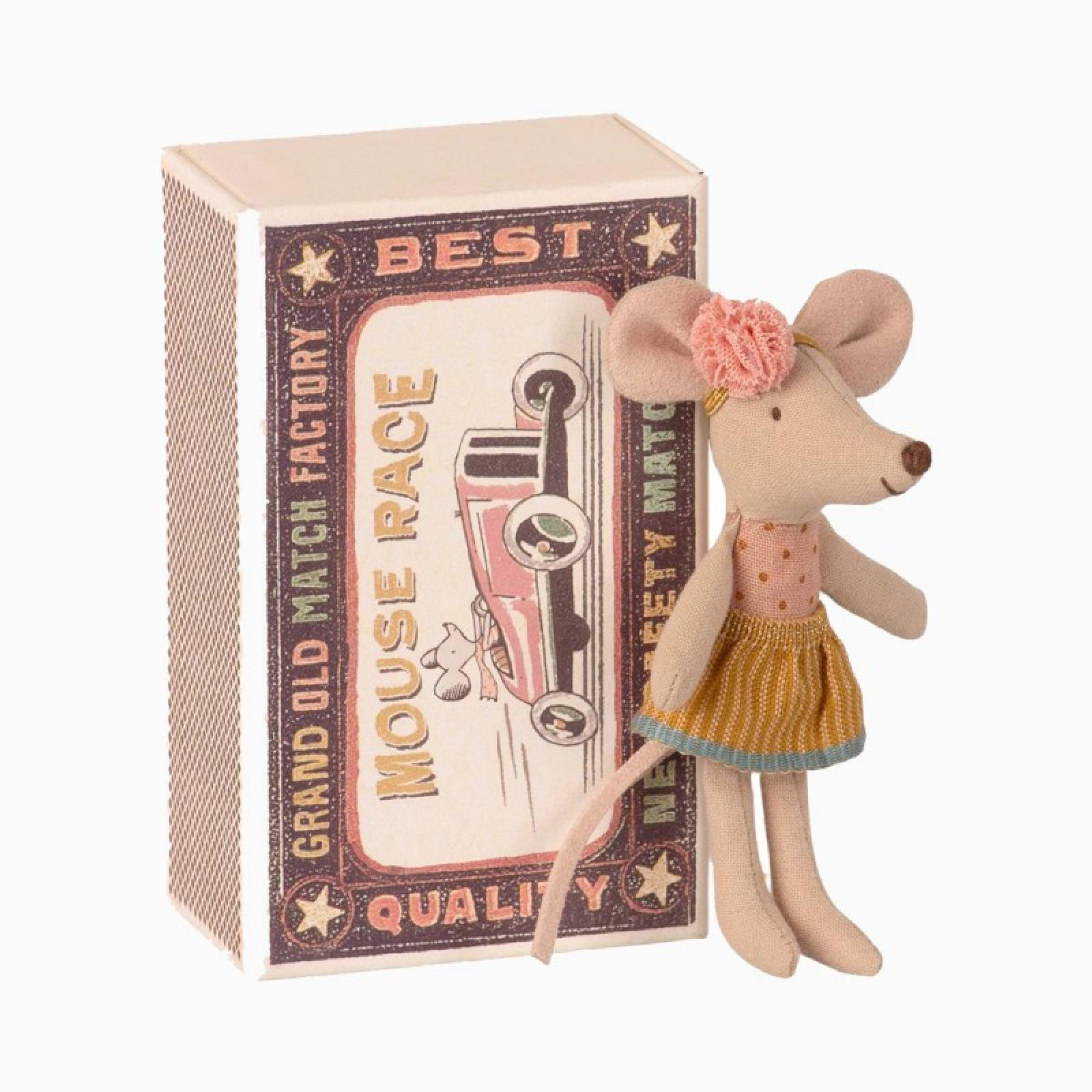 Little Sister Mouse In Matchbox Soft Toy Maileg