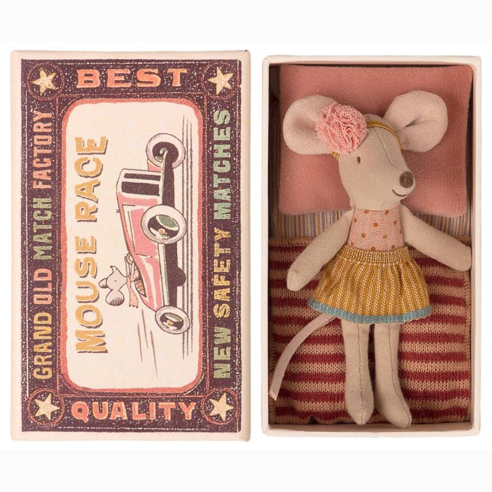 Little Sister Mouse In Matchbox Soft Toy Maileg thumbnails
