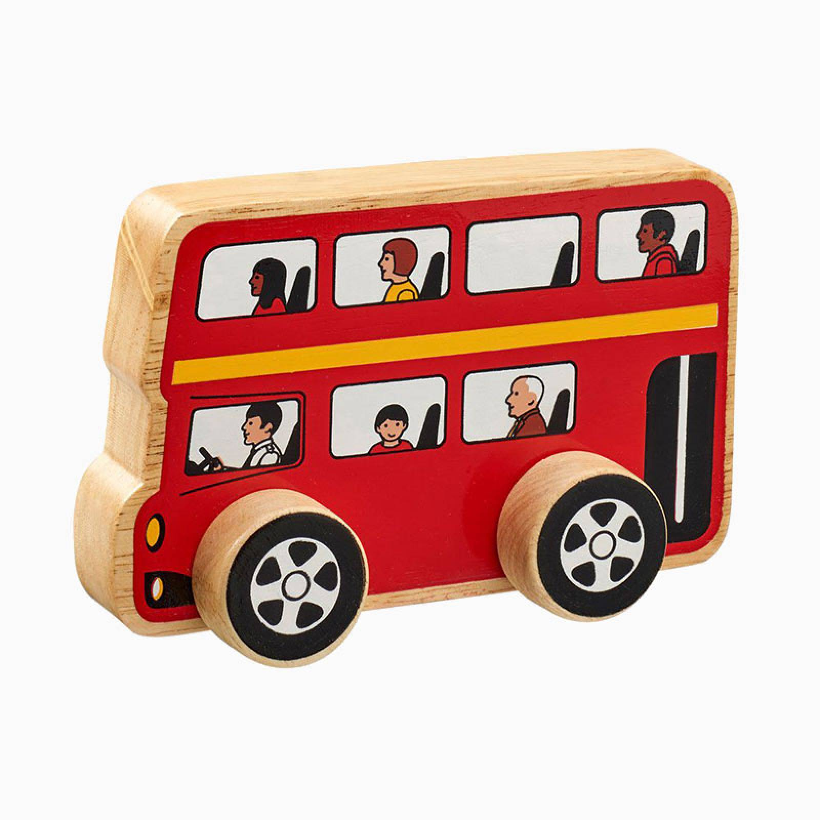 Little Wooden Bus Made From Natural Wood By Lanka Kade