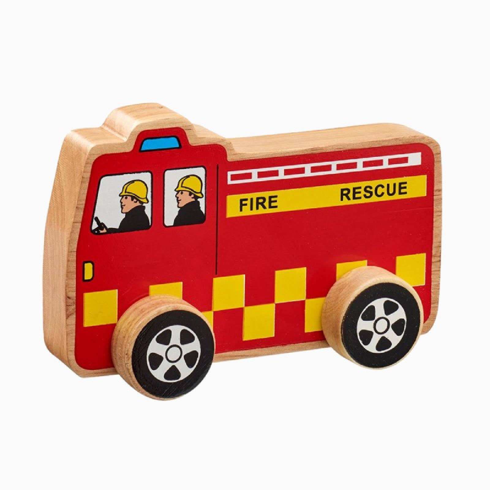 Little Wooden Fire Engine Made From Natural Wood By Lanka Kade