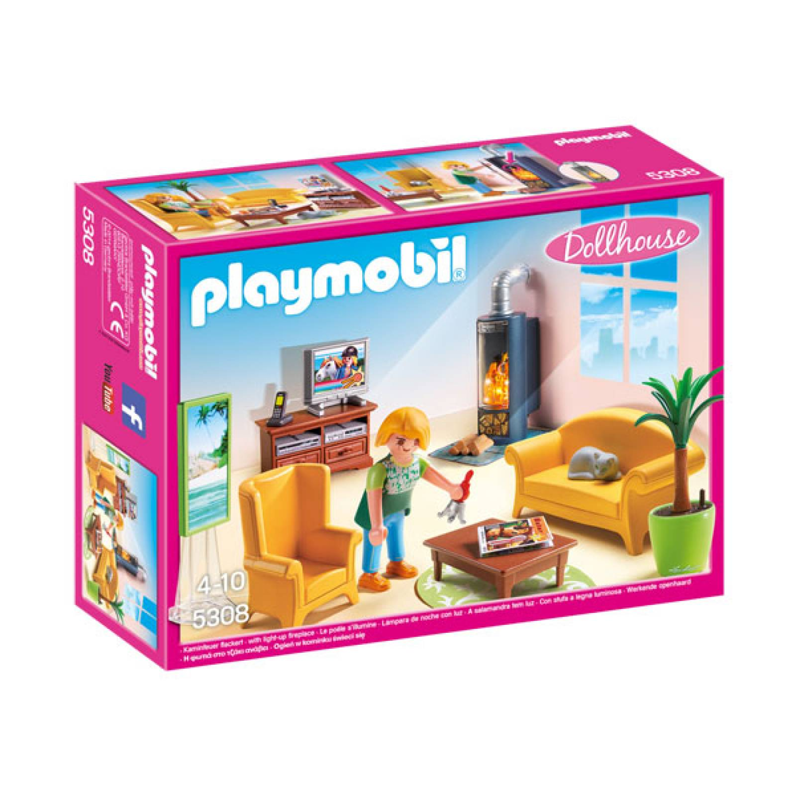 Living Room With Fireplace Playmobil 5308 thumbnails