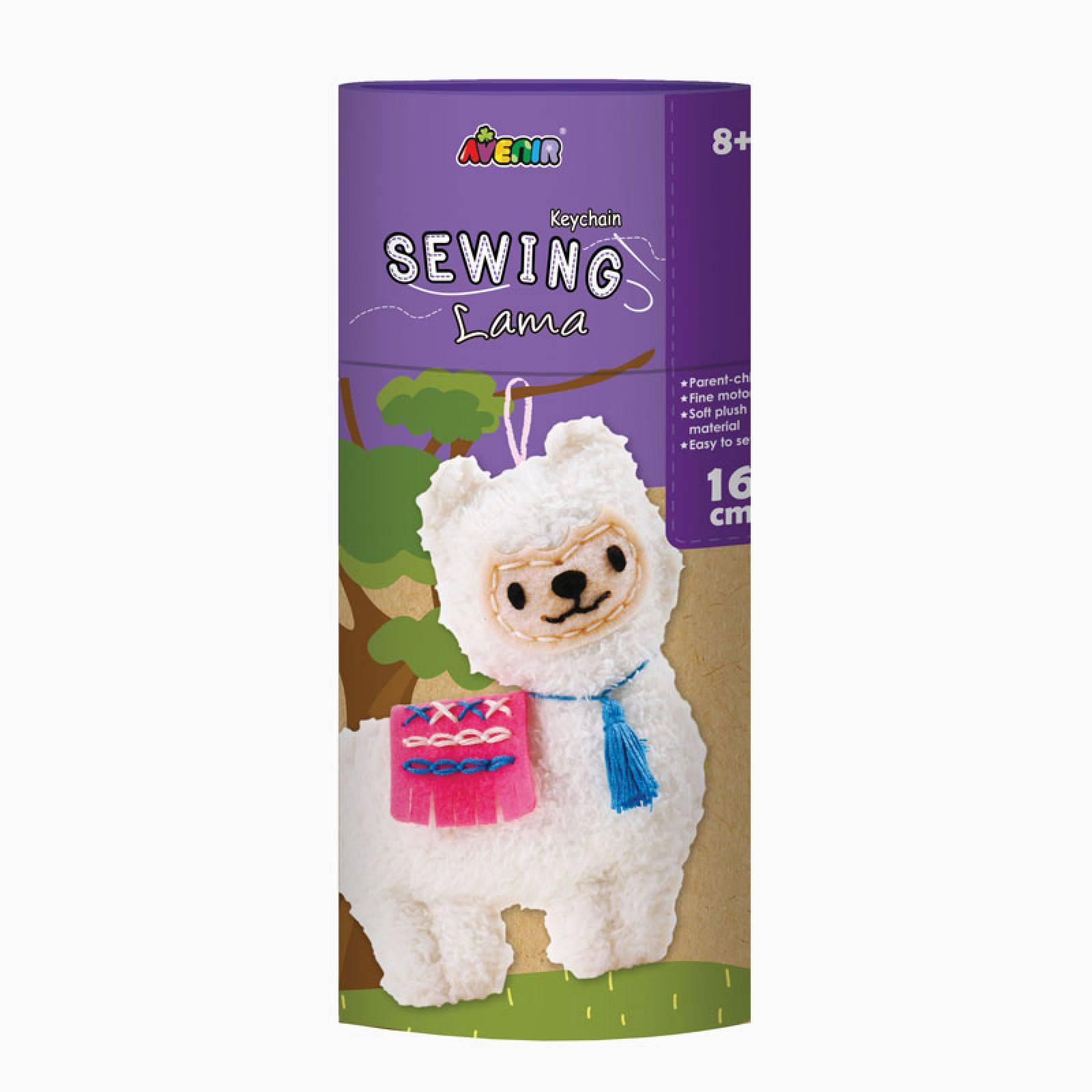 Keychain Sewing Kit - Llama 8+