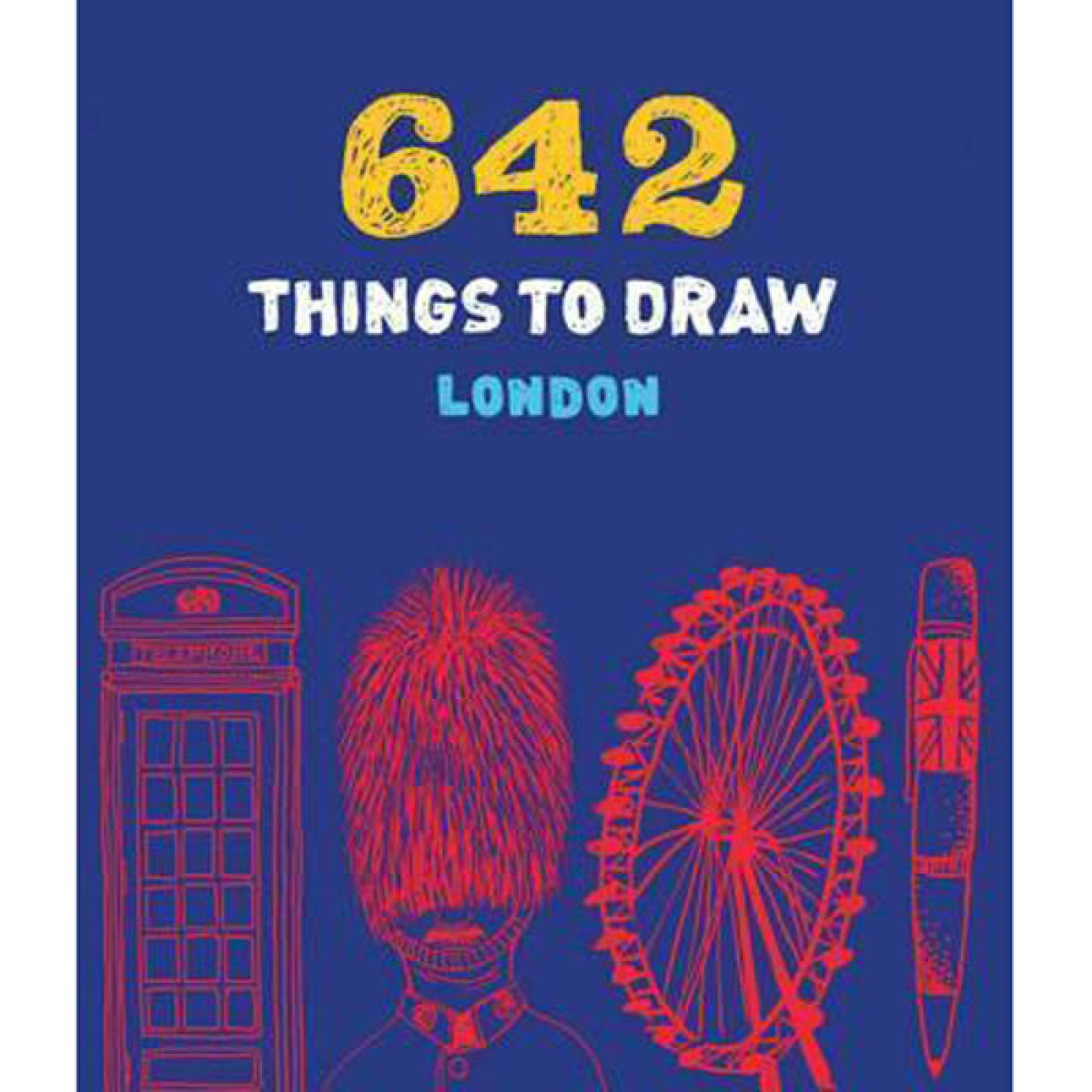 642 Things To Draw LONDON Paperback Book
