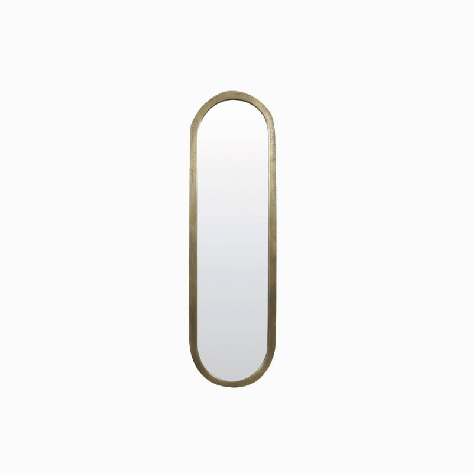 Long Curved Farah Mirror in Gold 36x122cm