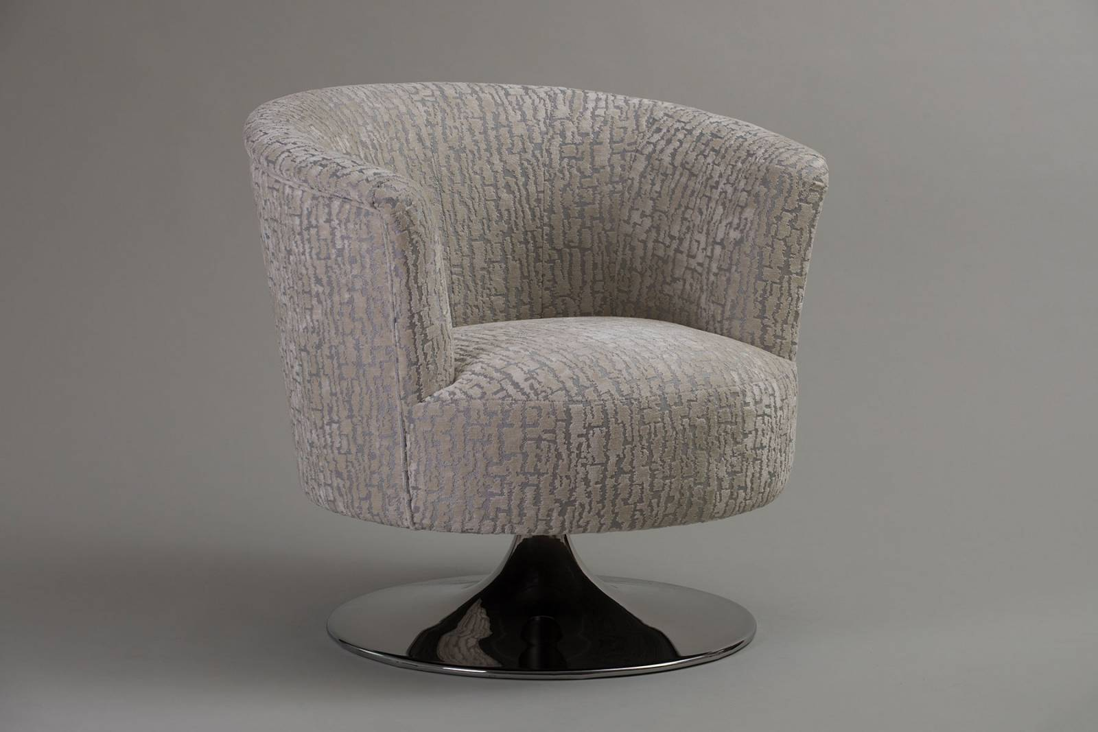 Lulu Swivel Chair By Whitemeadow - Grade C Fabric