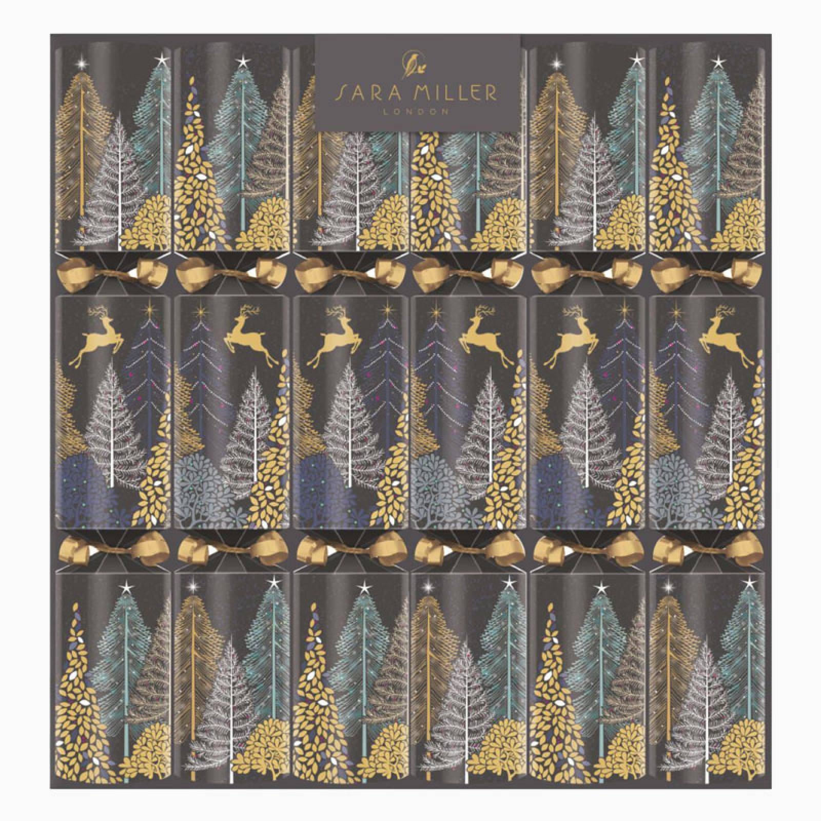 Luxury Winter Forest Christmas Crackers By Sara Miller thumbnails