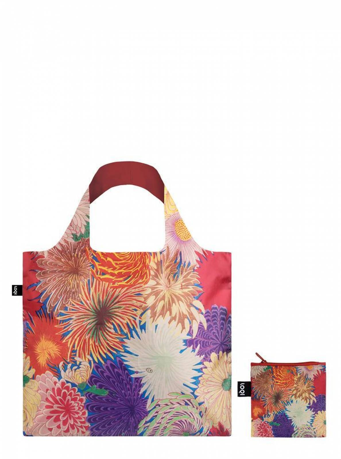 Japanese Chrysanthemum - Reusable Tote Bag With Pouch thumbnails