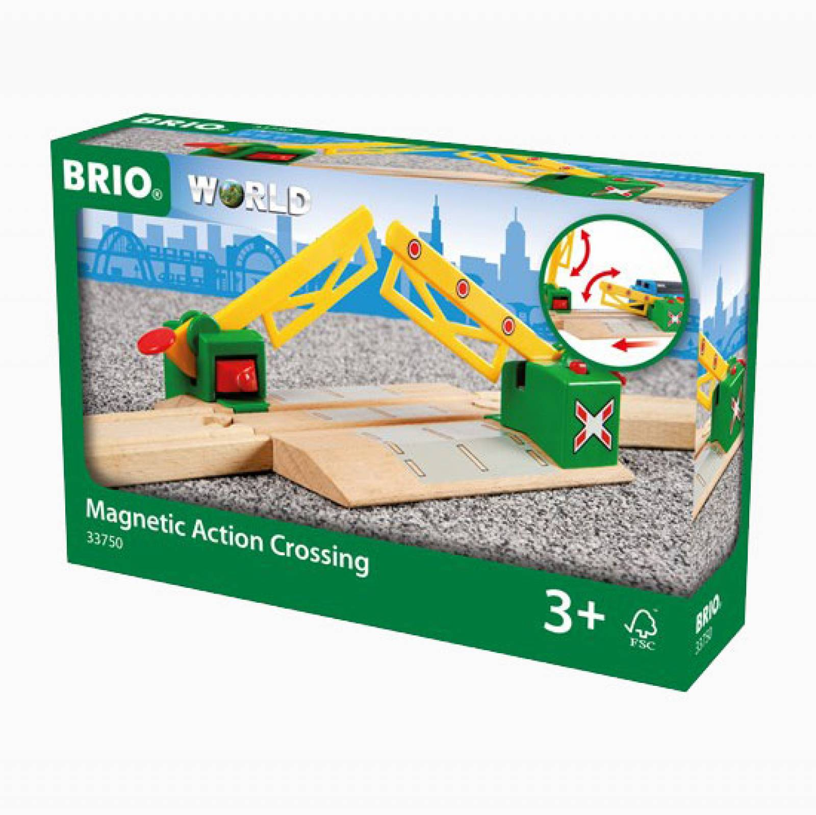 Magnetic Action Crossing BRIO Wooden Railway Age 3+ thumbnails