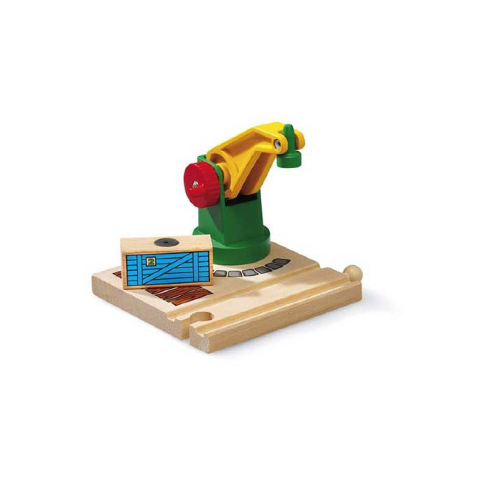 Low Level Crane  BRIO Wooden Railway Age 3+