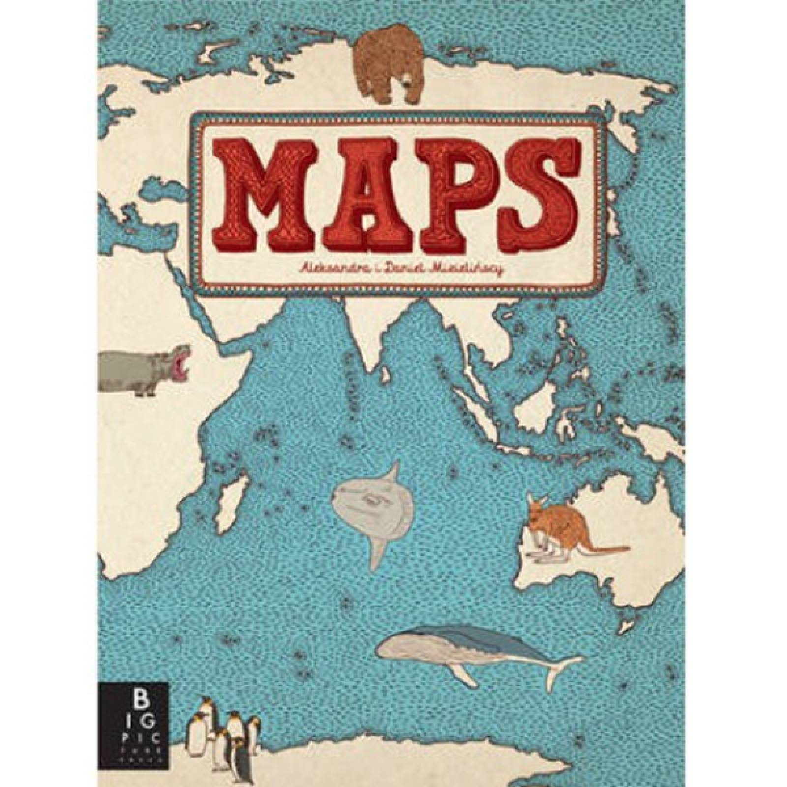 Maps Hardback Book By Aleksandra and Daniel Mizielinski thumbnails