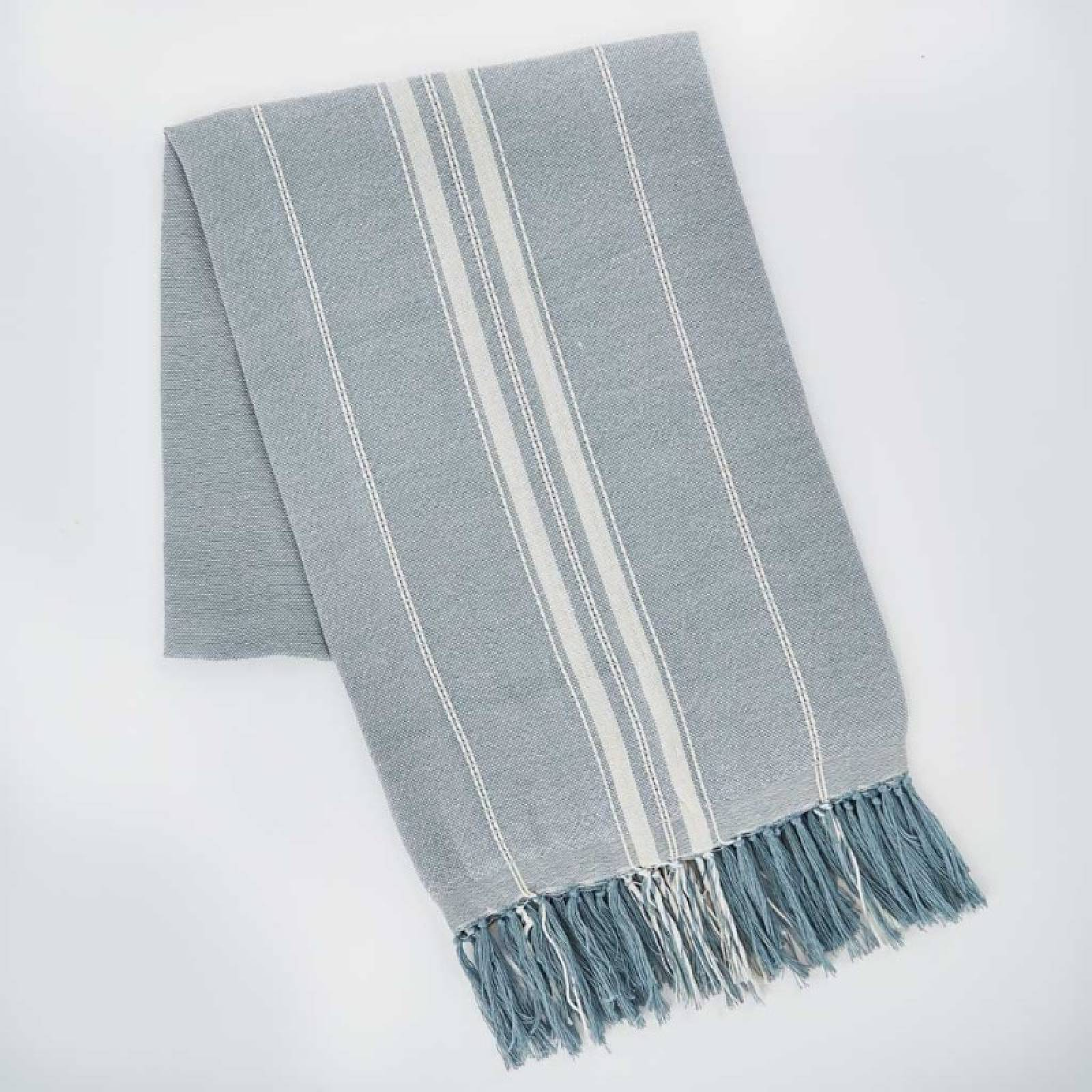 Marseille Throw In Duck Egg Blue Made From Recycled Bottles