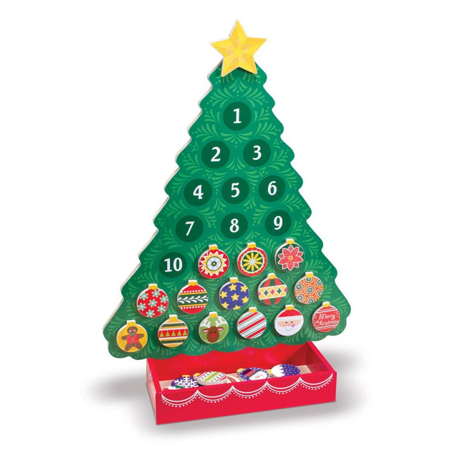 Countdown To Christmas Wooden Advent Calendar Melissa & Doug