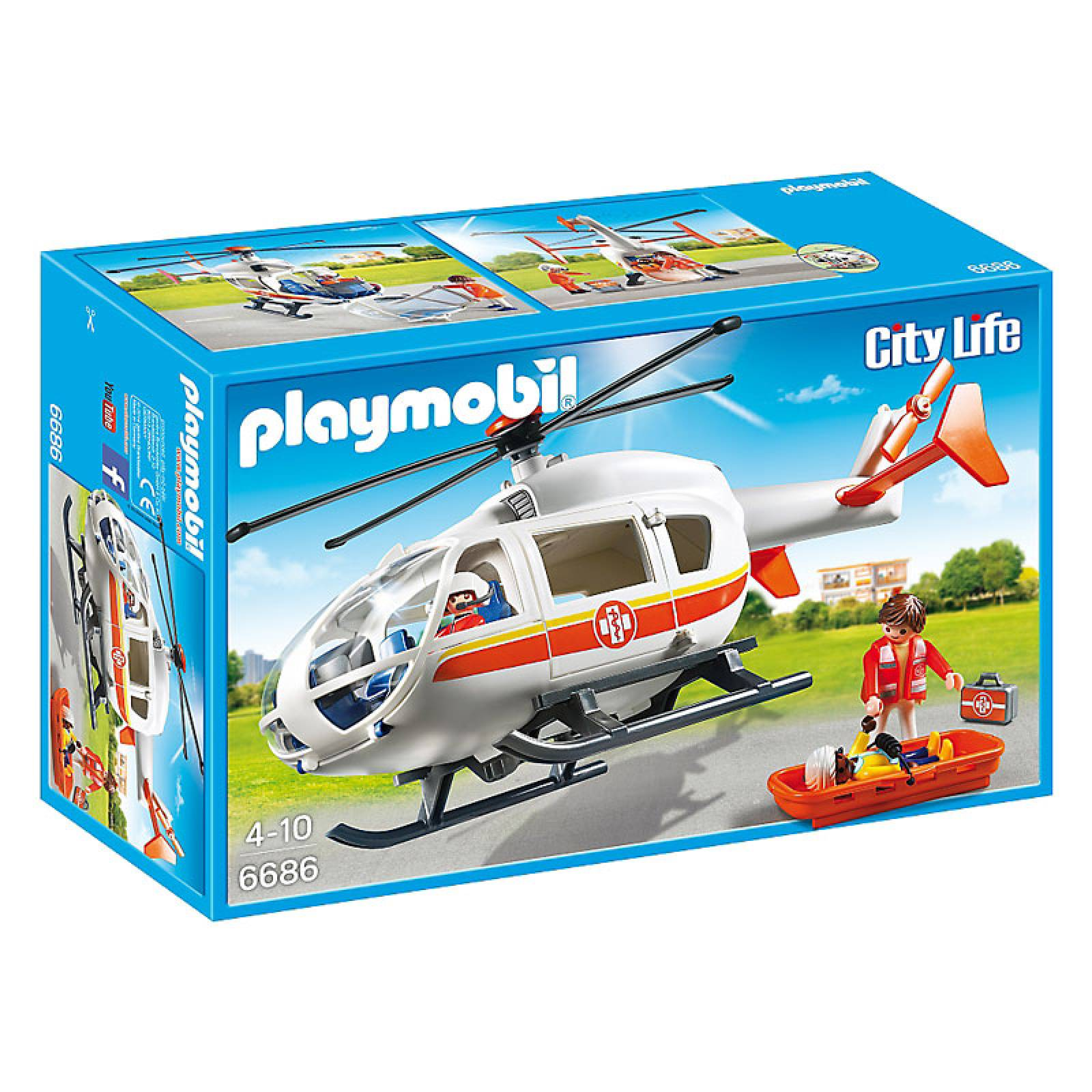 Emergency Medical Helicopter City Life Playmobil 6686 thumbnails