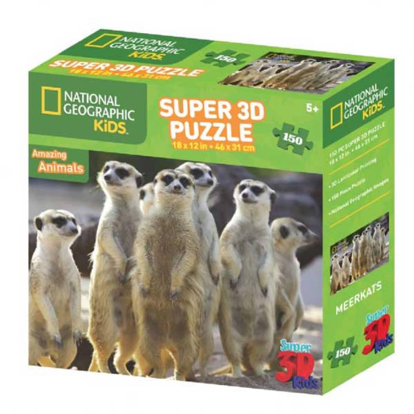 MEERKATS Super 3D Puzzle 150pc 5+