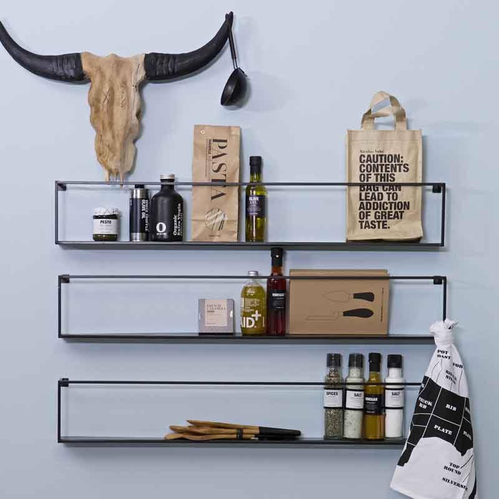 Meert Long Rectangular Wall Shelf
