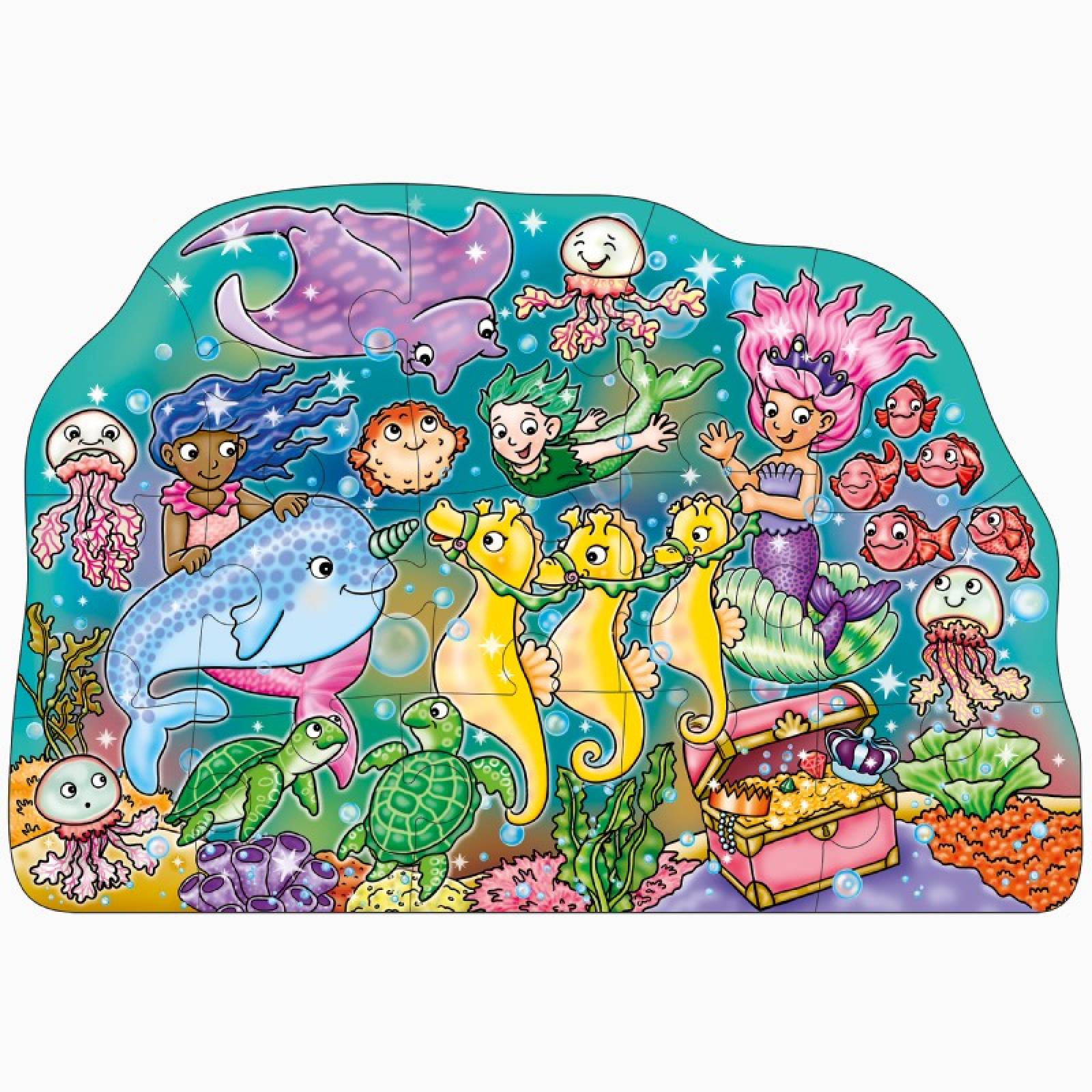 Mermaid Fun Jigsaw Puzzle 15 Piece By Orchard Toys 2+ thumbnails
