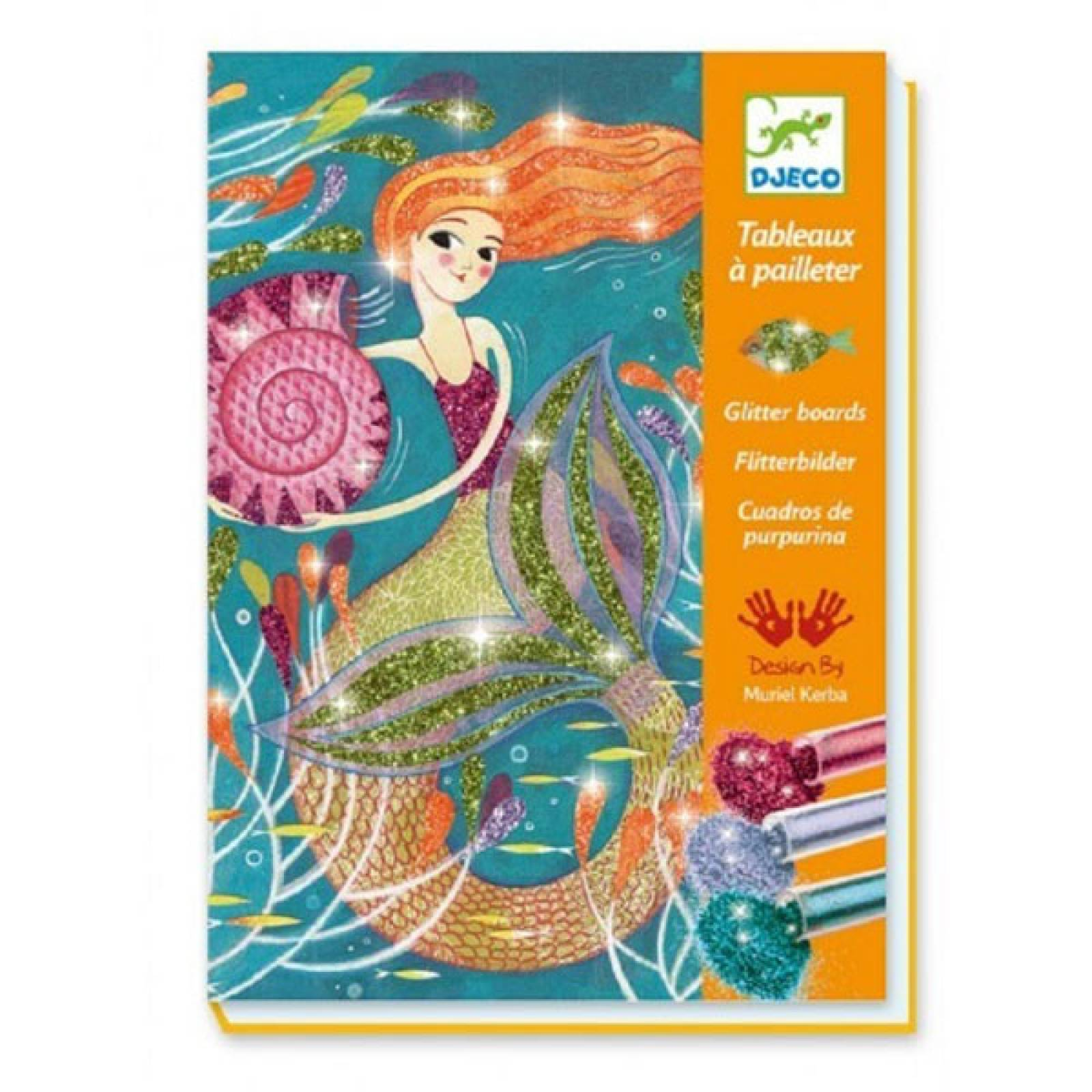 Mermaid Lights Glitter Boards By Djeco 7-13yrs