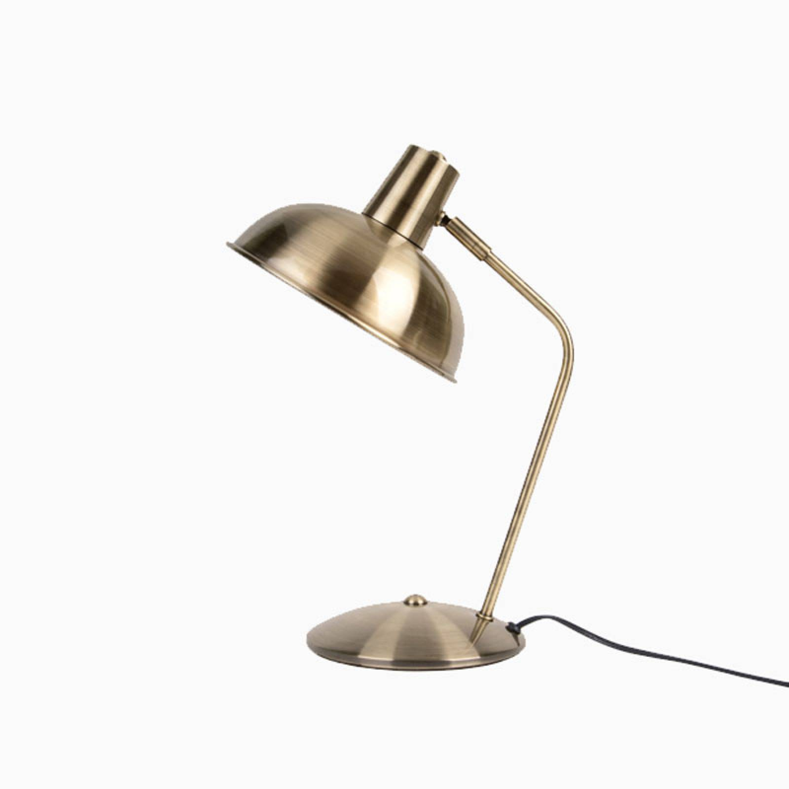 Hood Metal Table Lamp In Brushed Gold