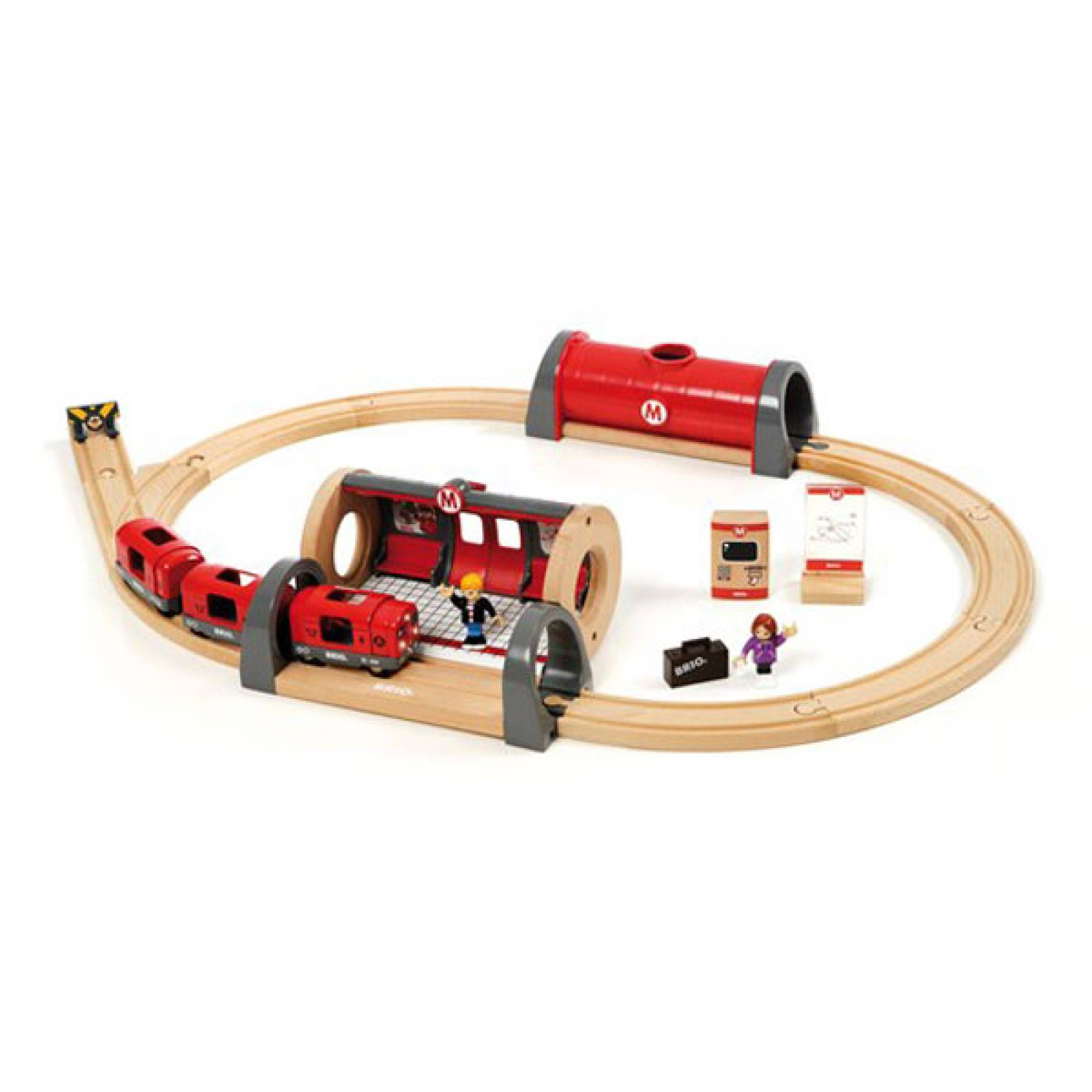Metro Railway Set BRIO Wooden Railway Age 3+