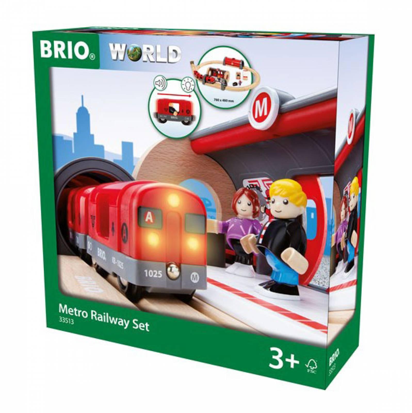 Metro Railway Set BRIO Wooden Railway Age 3+ thumbnails