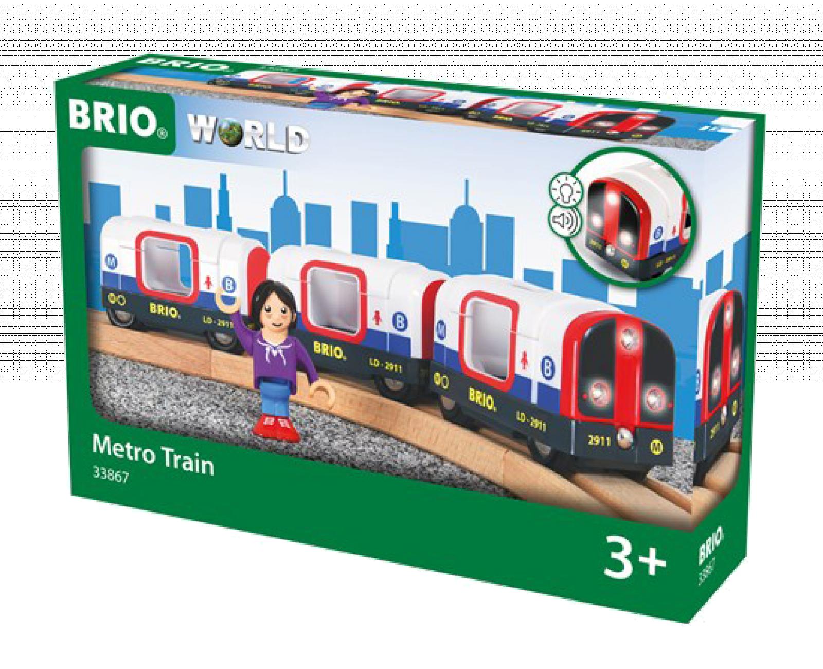 Metro Train BRIO Wooden Railway Age 3+ thumbnails