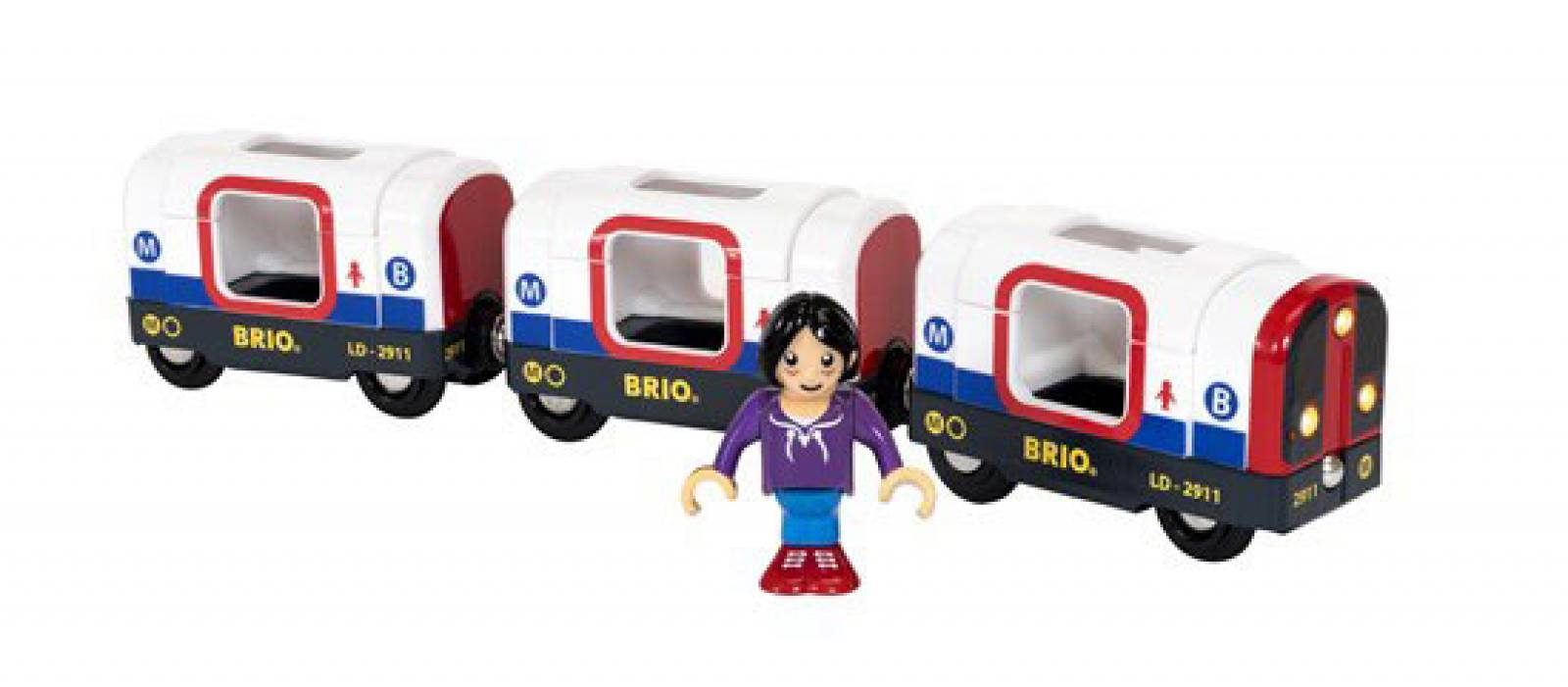 Metro Train BRIO Wooden Railway Age 3+