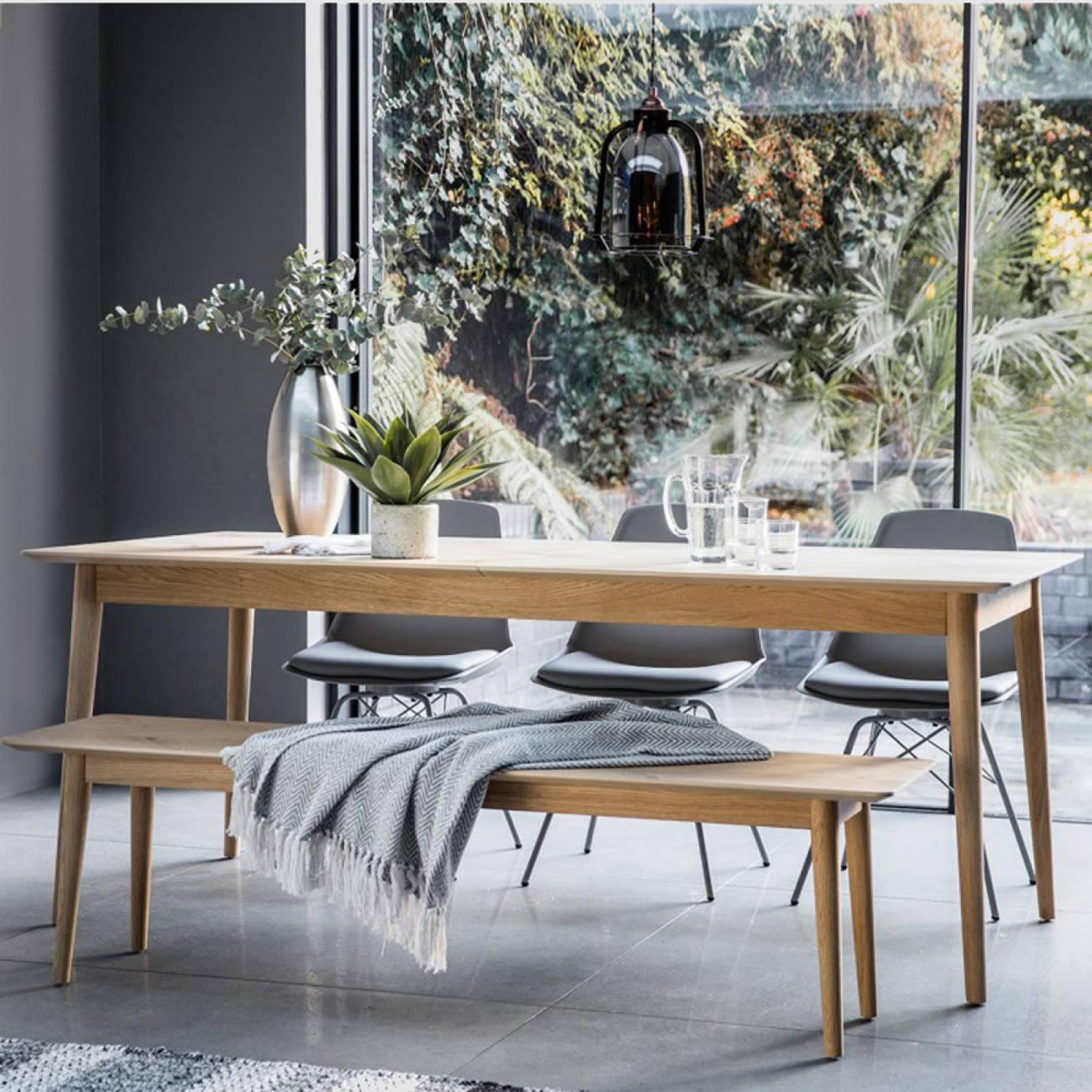 Extending Milano Oak Dining Table