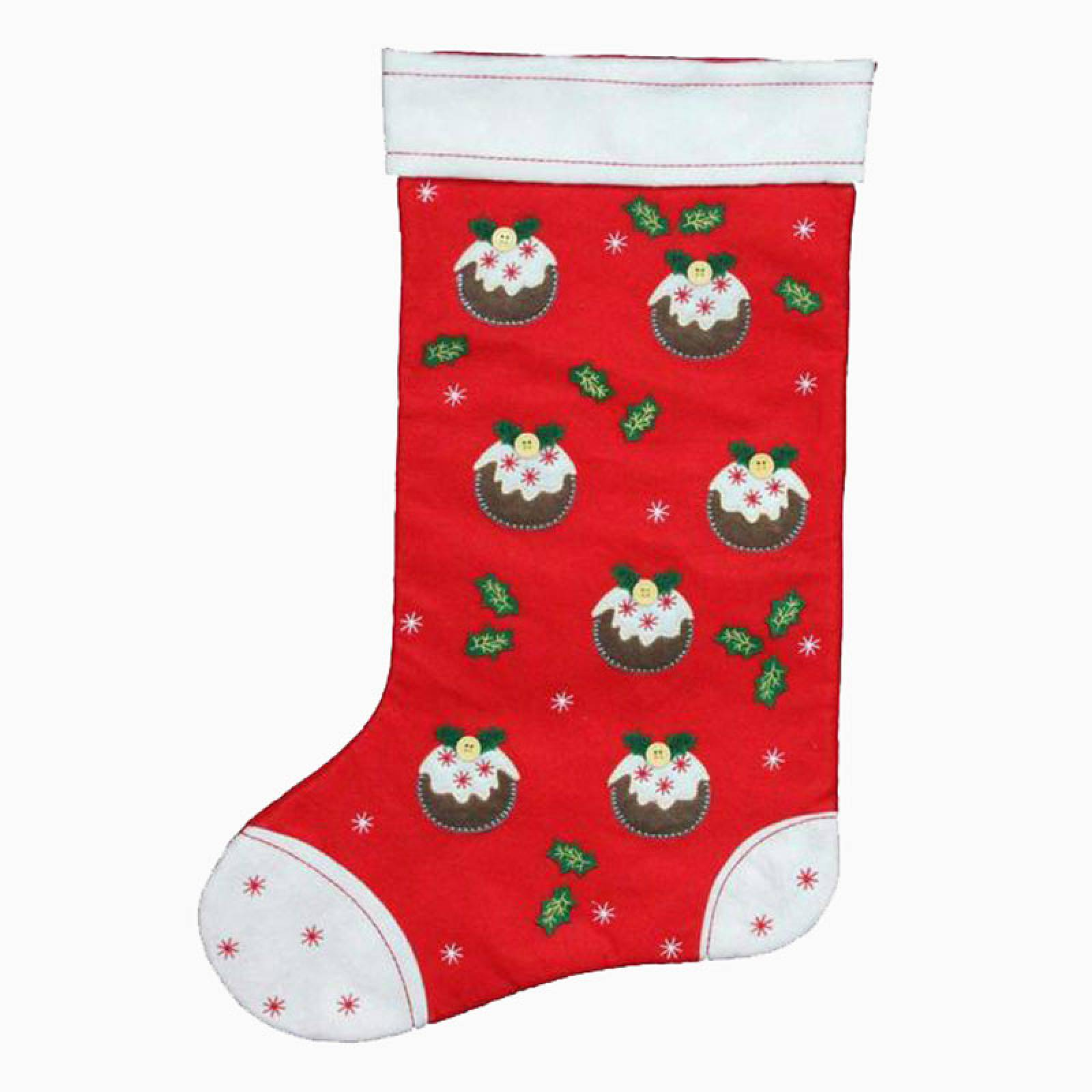 Mini Christmas Pudding Felt Christmas Stocking By Gisela Graham
