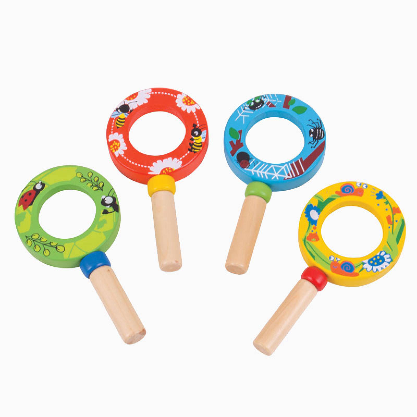 Wooden Mini Magnifying Glass 3+