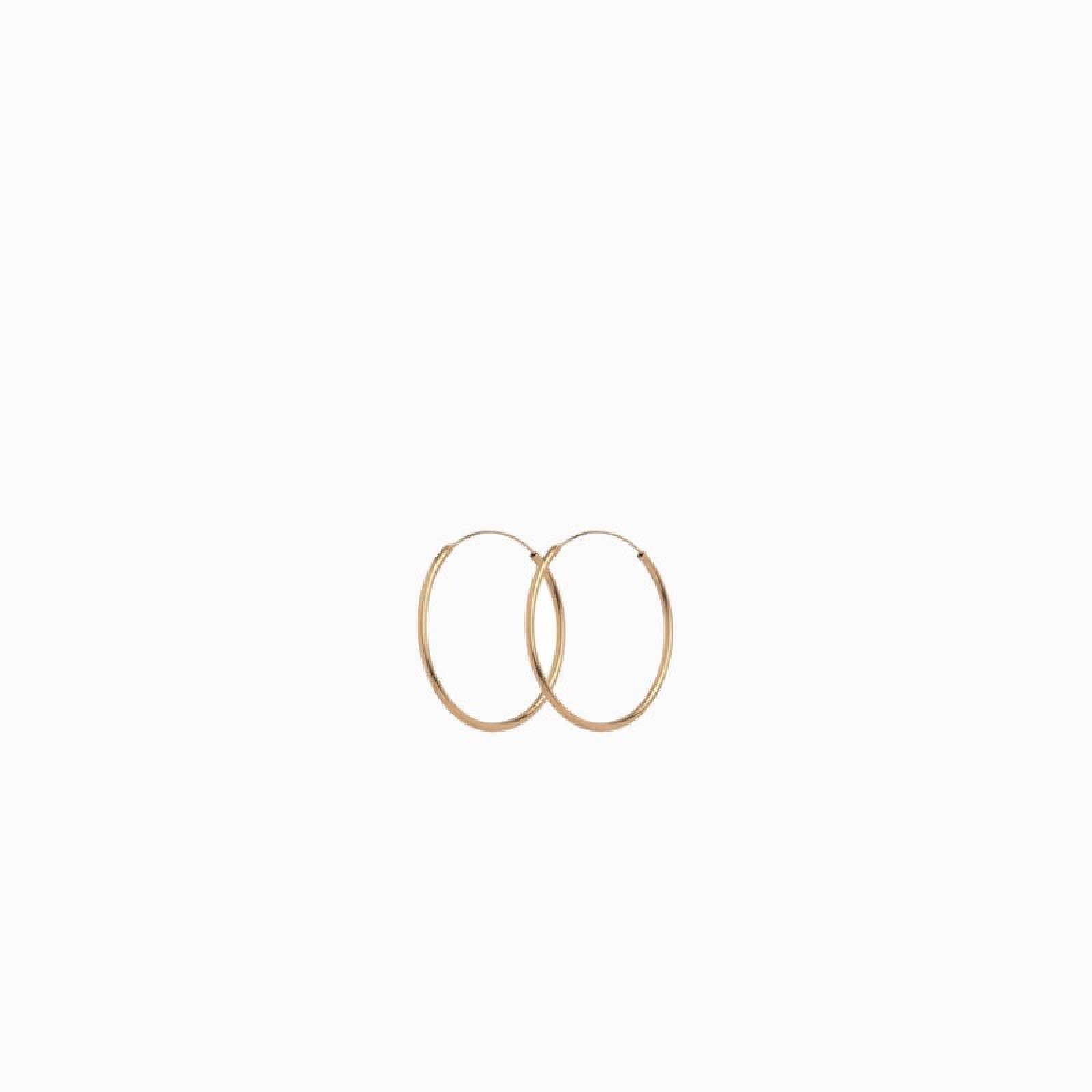 Mini Plain Hoops In Gold 20mm By Pernille Corydon