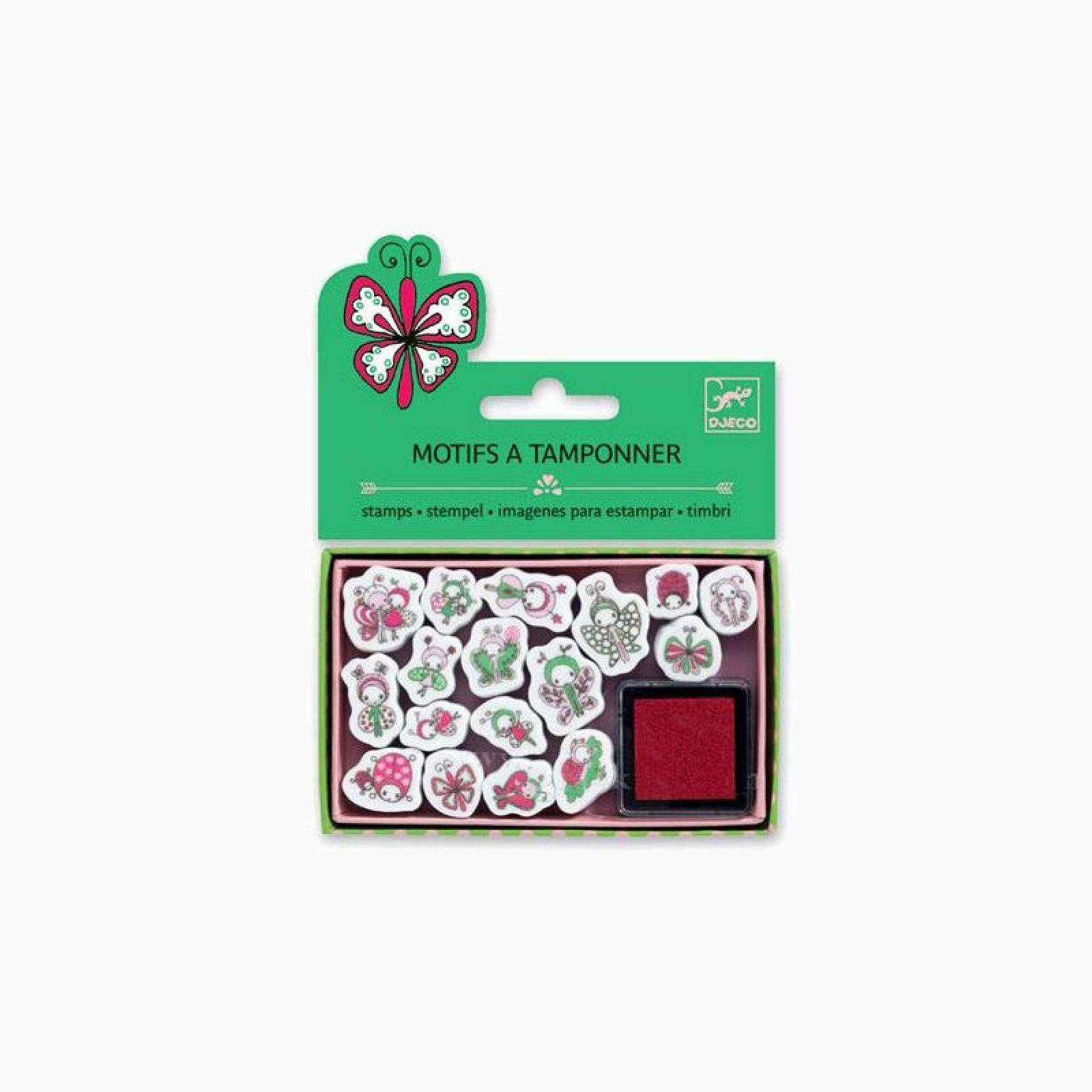 Mini Stamps Ladybirds and Butterflies By Djeco