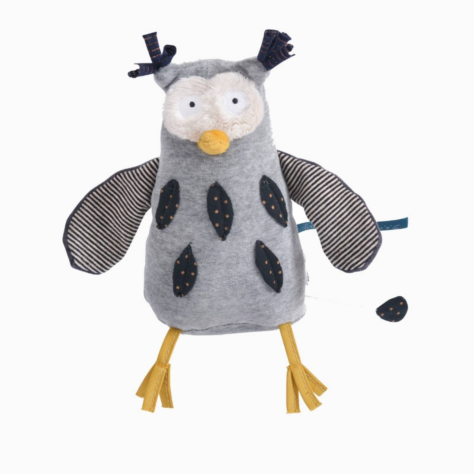 Mister Owl Musical Soft Toy Les Moustaches 0+