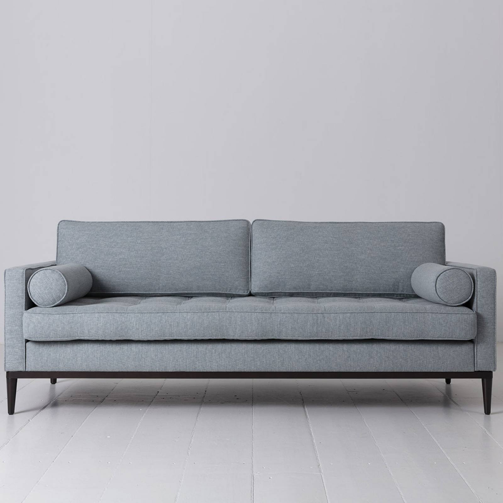 Swyft - Model 02 Linen 3 Seater Sofa - Seaglass