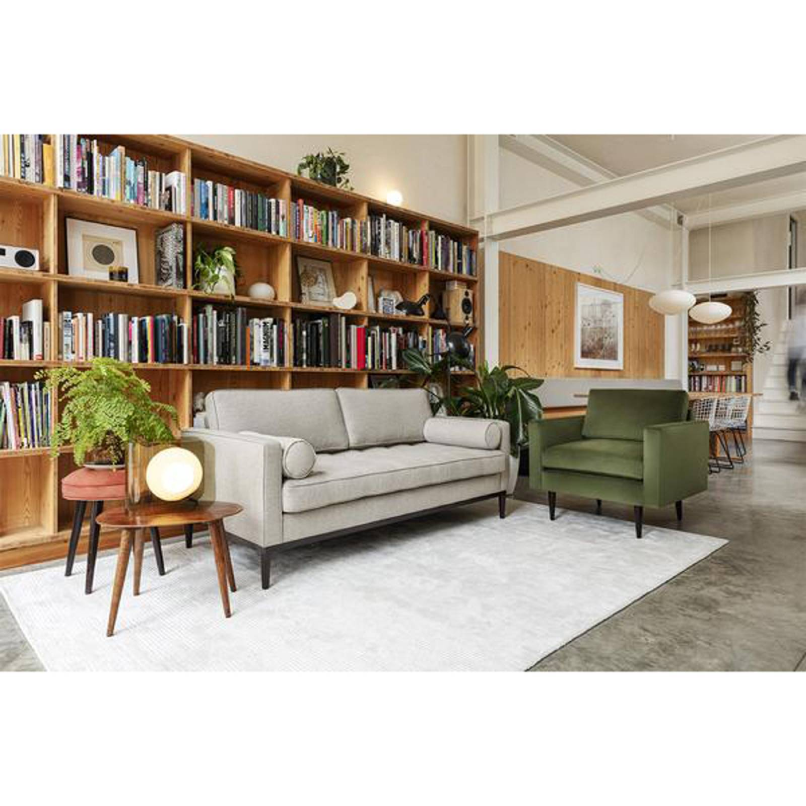 Swyft - Model 02 Linen 3 Seater Sofa - Pumice thumbnails