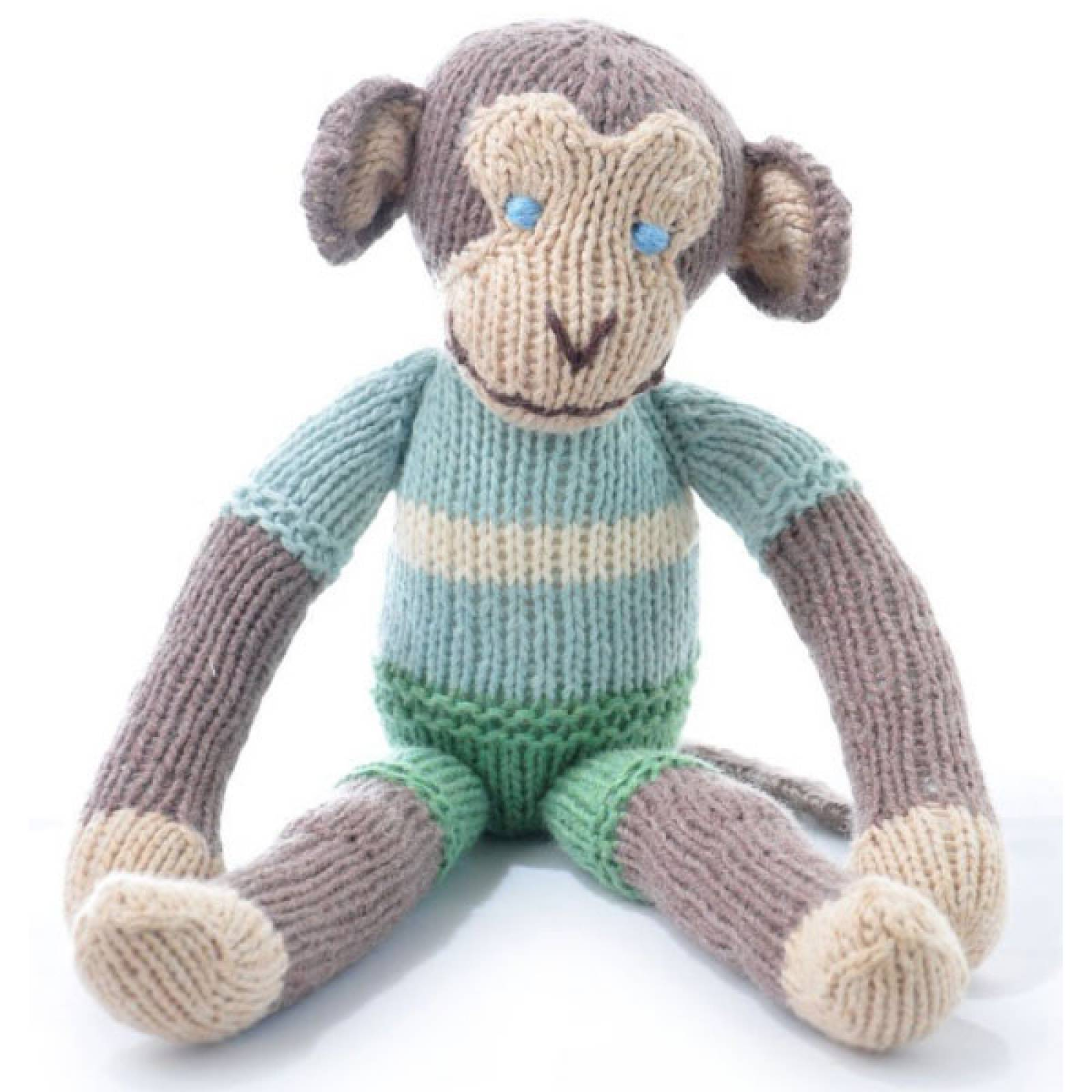 Monkey Hand Knitted Soft Toy Organic Cotton