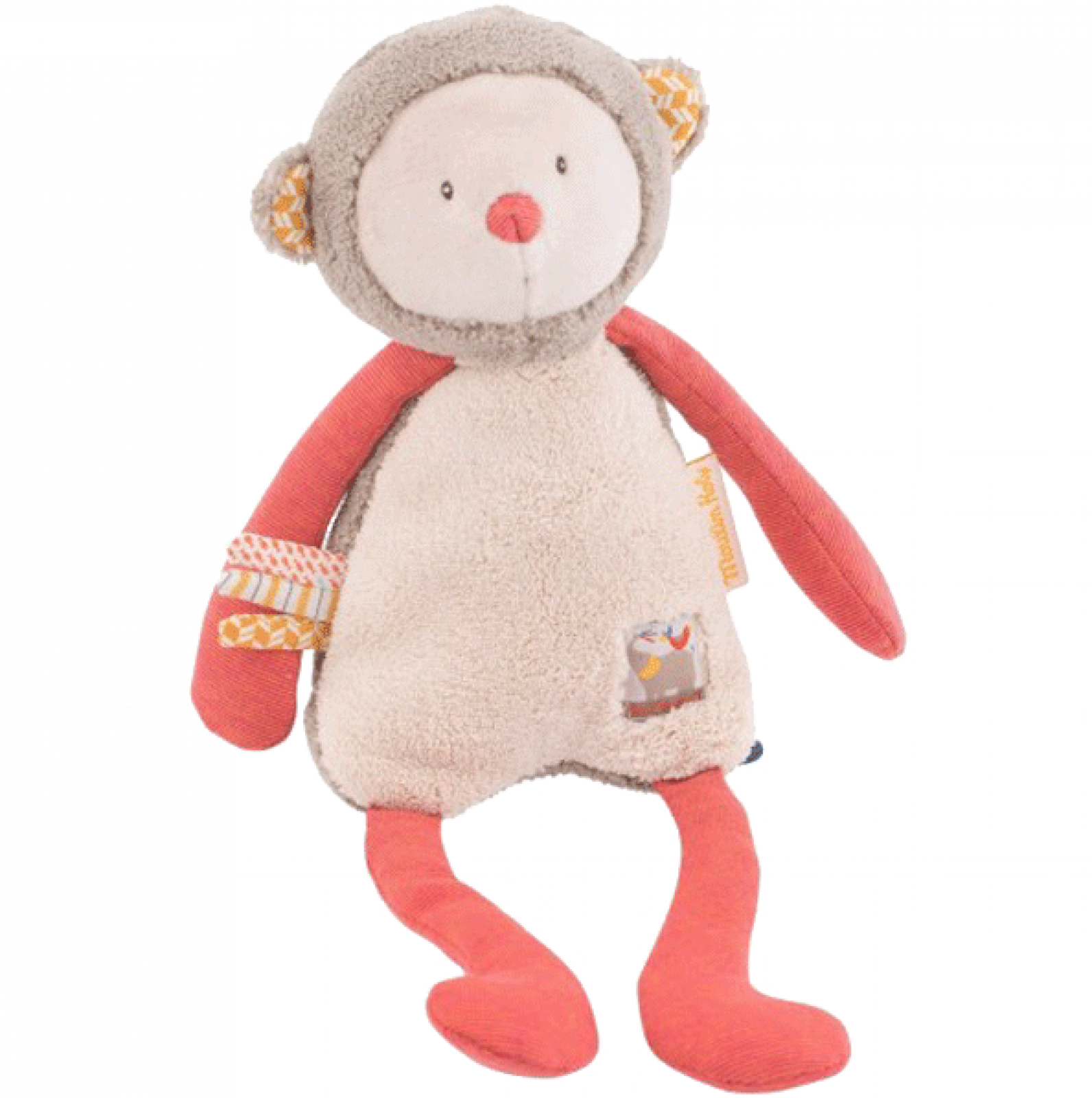 La Papoum Monkey Soft Toy 0+