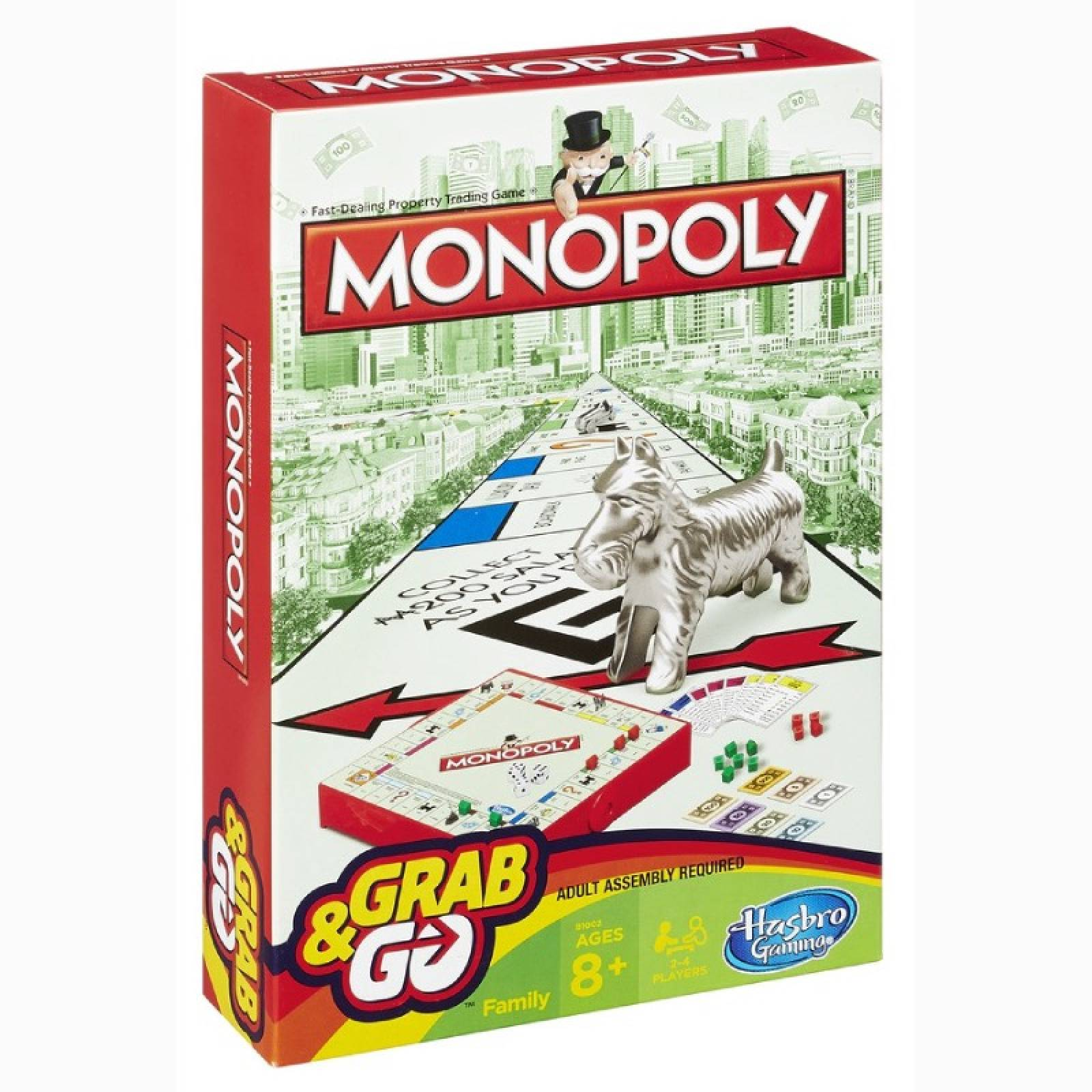Monopoly Grab & Go Game 8+