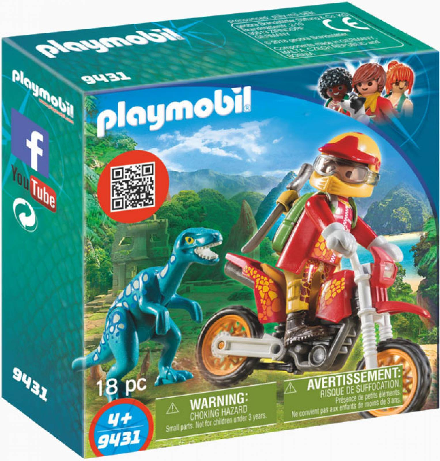 Motorcross Bike With Raptor Playmobil Dinosaurs 9431 thumbnails