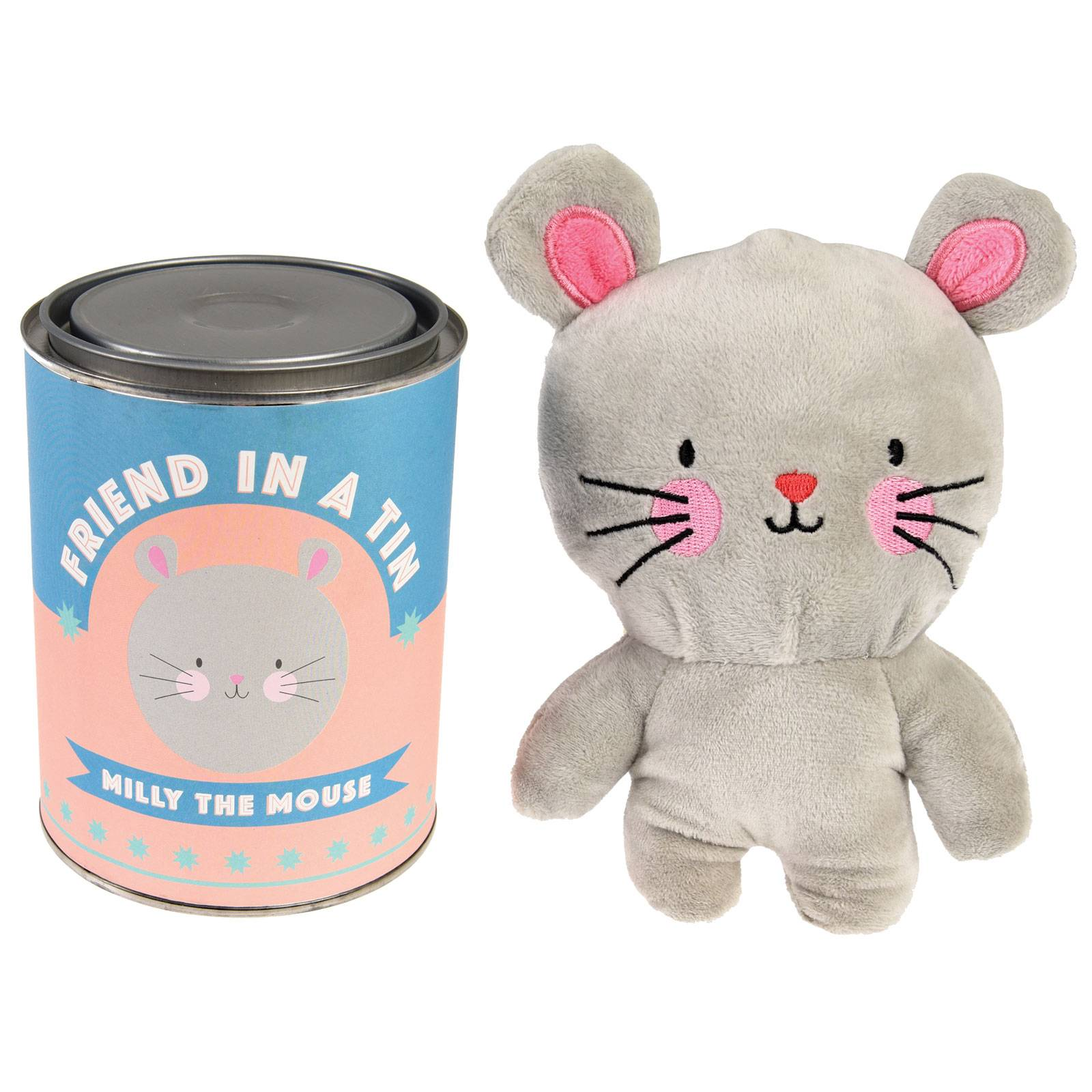 Mouse Soft Toy Friend In A Tin