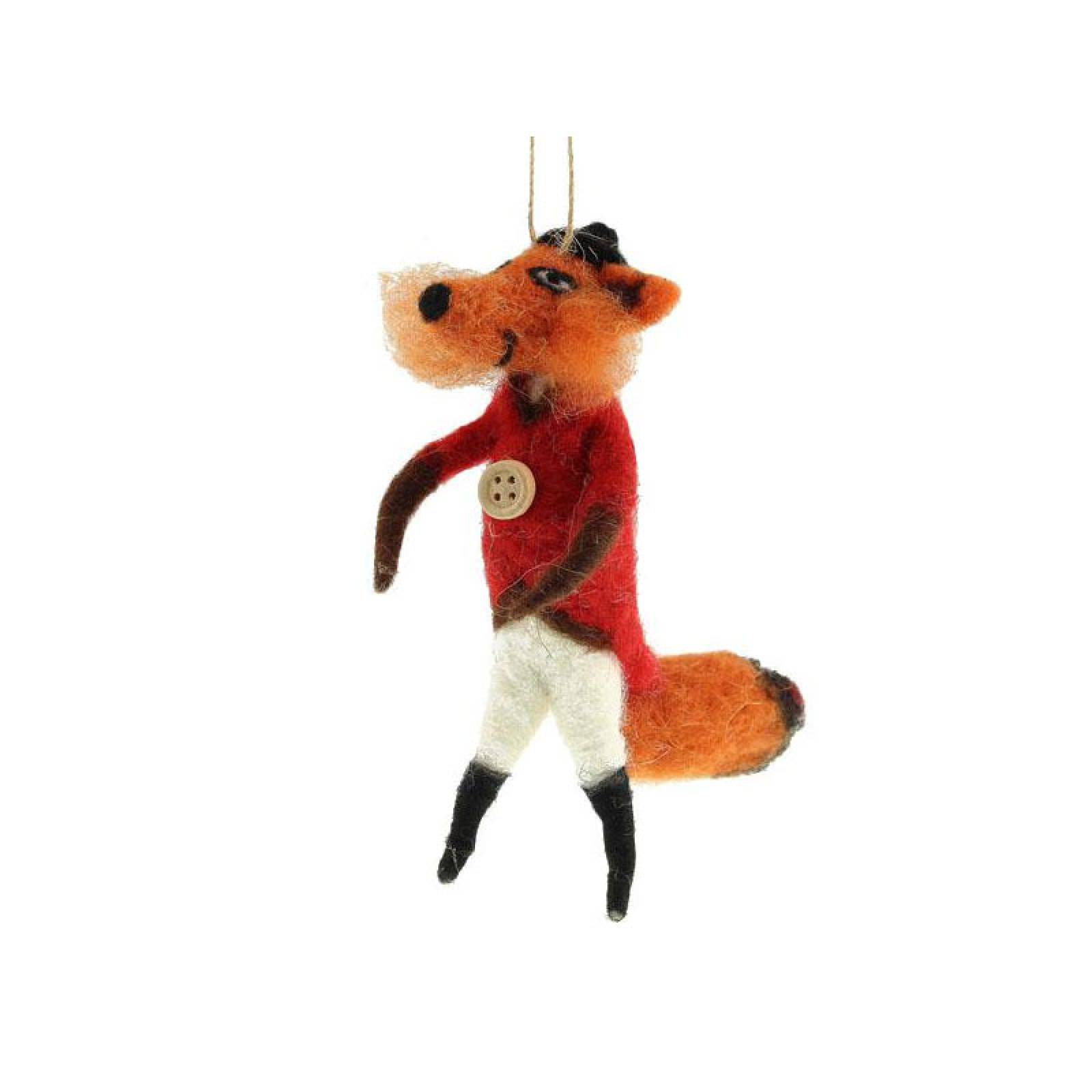 Mr Fox Felt Hanging Christmas Decoration thumbnails