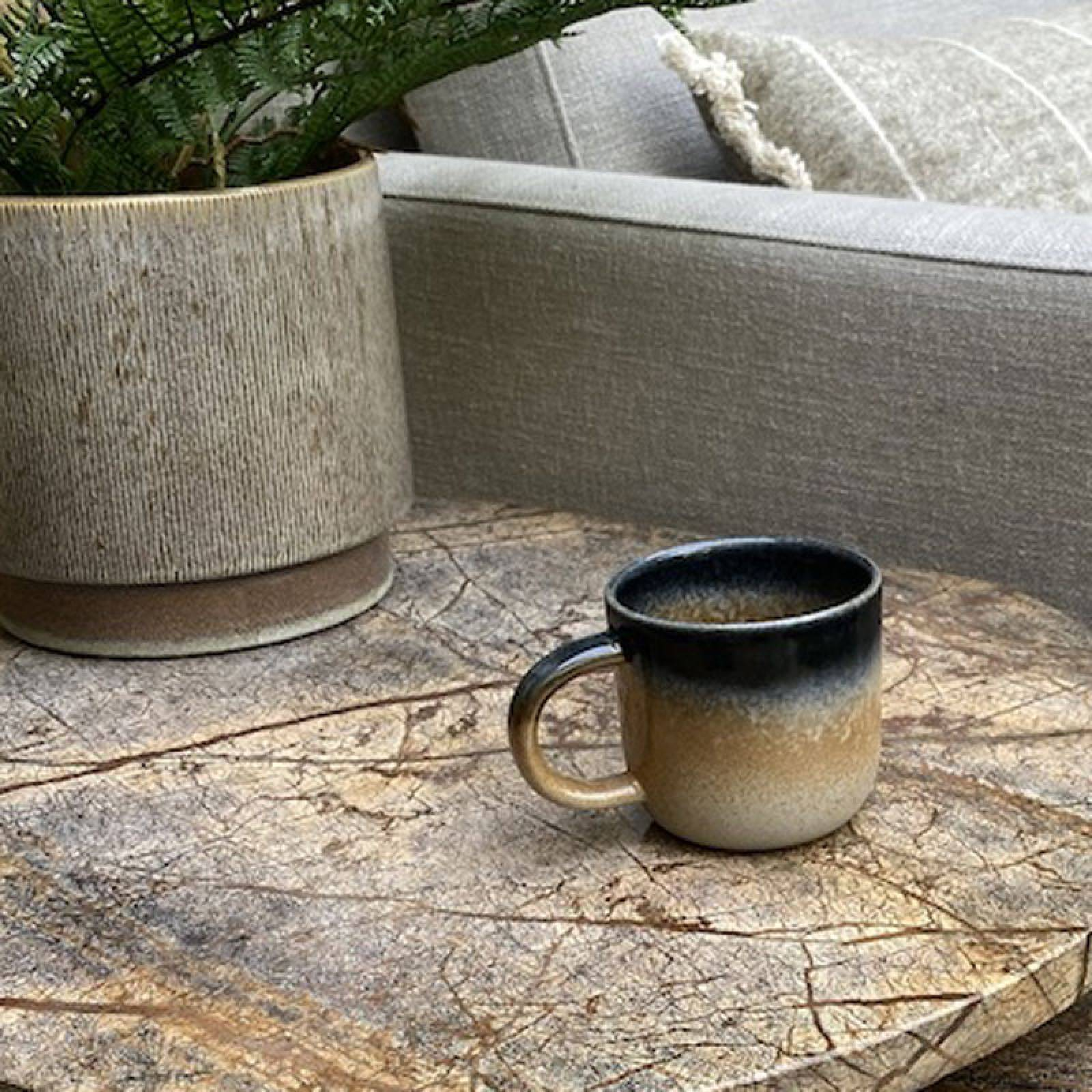 Blue & Orange Glazed Porcelain Mug thumbnails